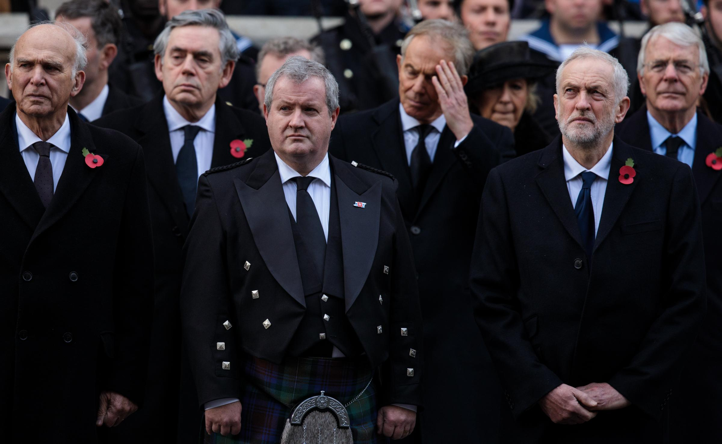 Ian Blackford joined Westminster party leaders past and present at the Cenotaph