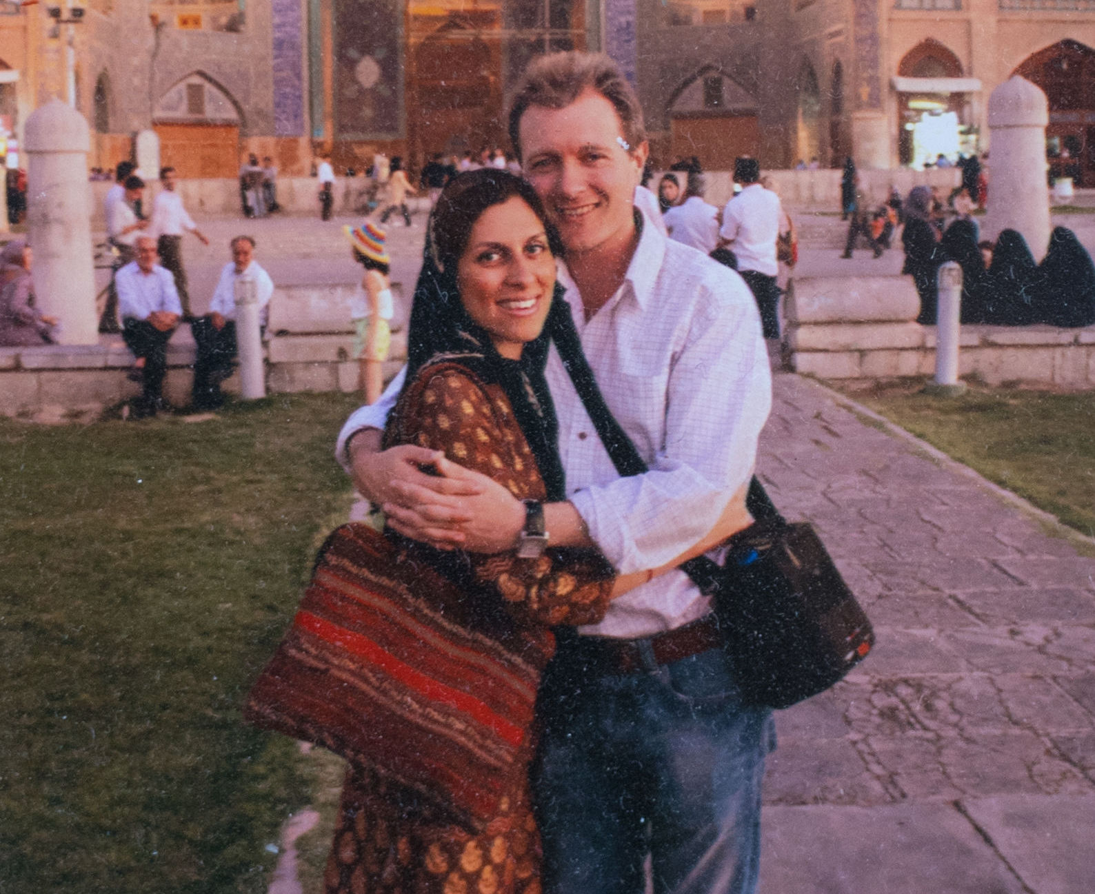 Nazanin Zaghari-Ratcliffe with husband Richard Ratcliffe