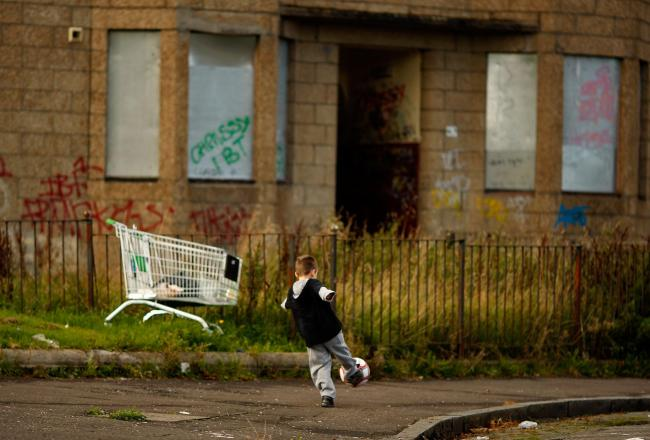 The housing issue extends to tackling derelict buildings that blight communities. Photograph: Getty
