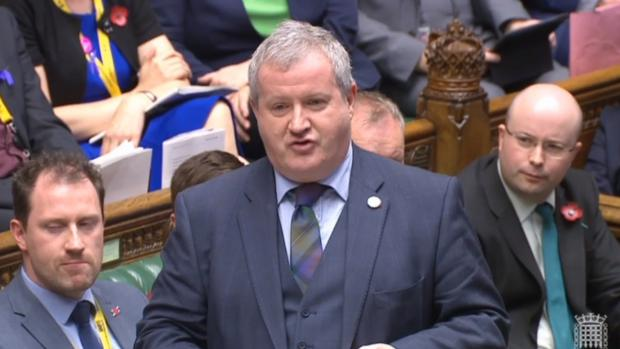 The National: SNP Westminster leader Ian Blackford speaks in the House of Commons.Photo: PA