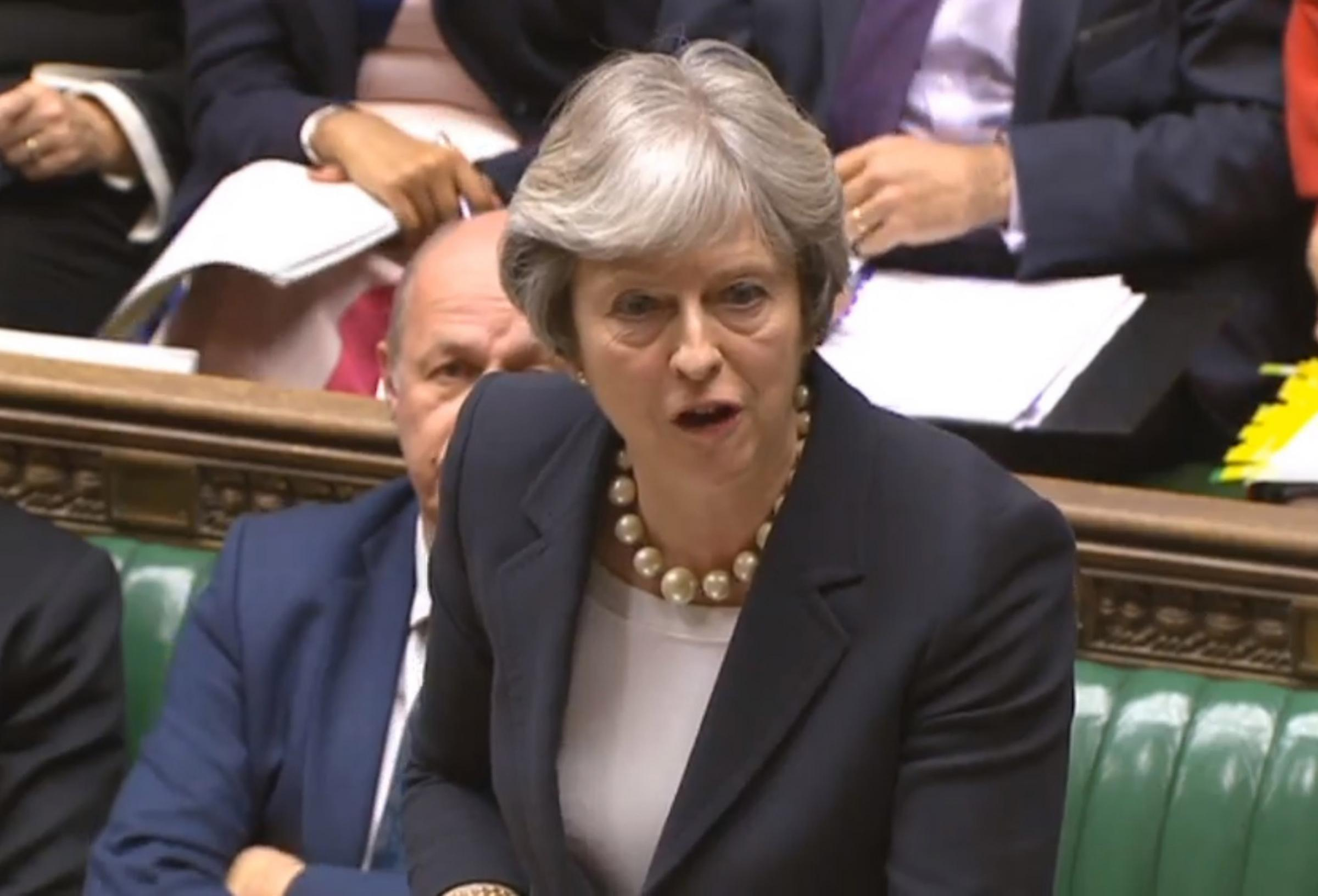 Prime Minister Theresa May responded to the claim