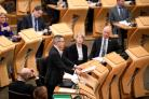 Finance Secretary Derek Mackay addresses the Scottish Parliament during his Draft Scottish Budget