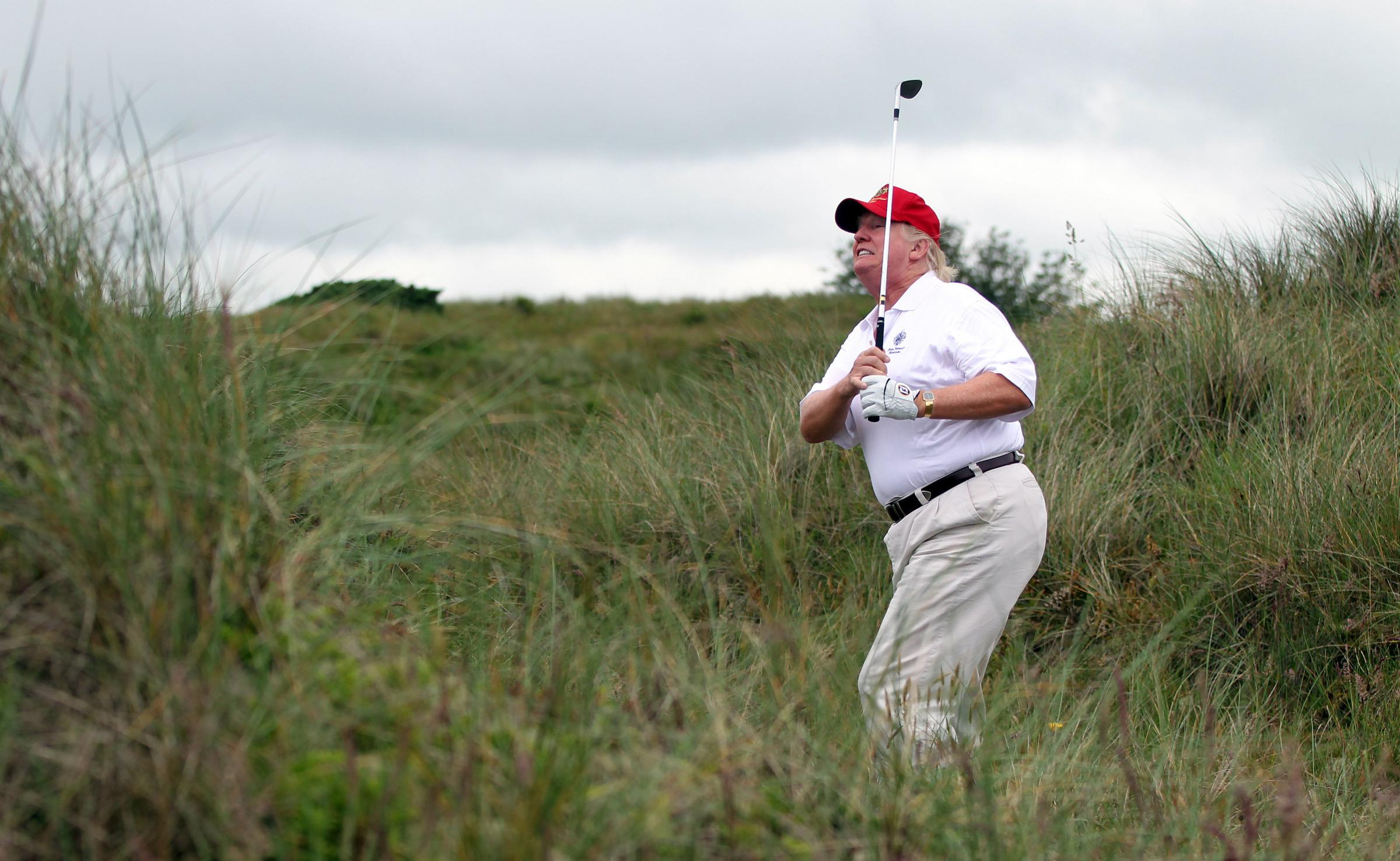 Parallels have been drawn with Donald Trump's site at the Menie Estate and Coul Links. Photograph: Getty