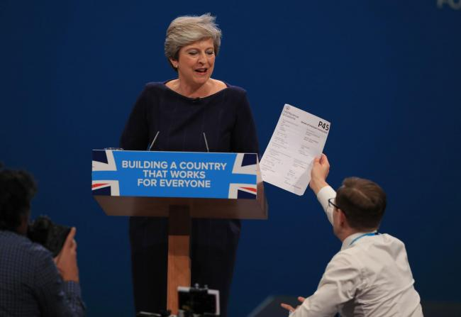 Theresa May's chaotic conference speech was just one example of 2017's Tory disasters