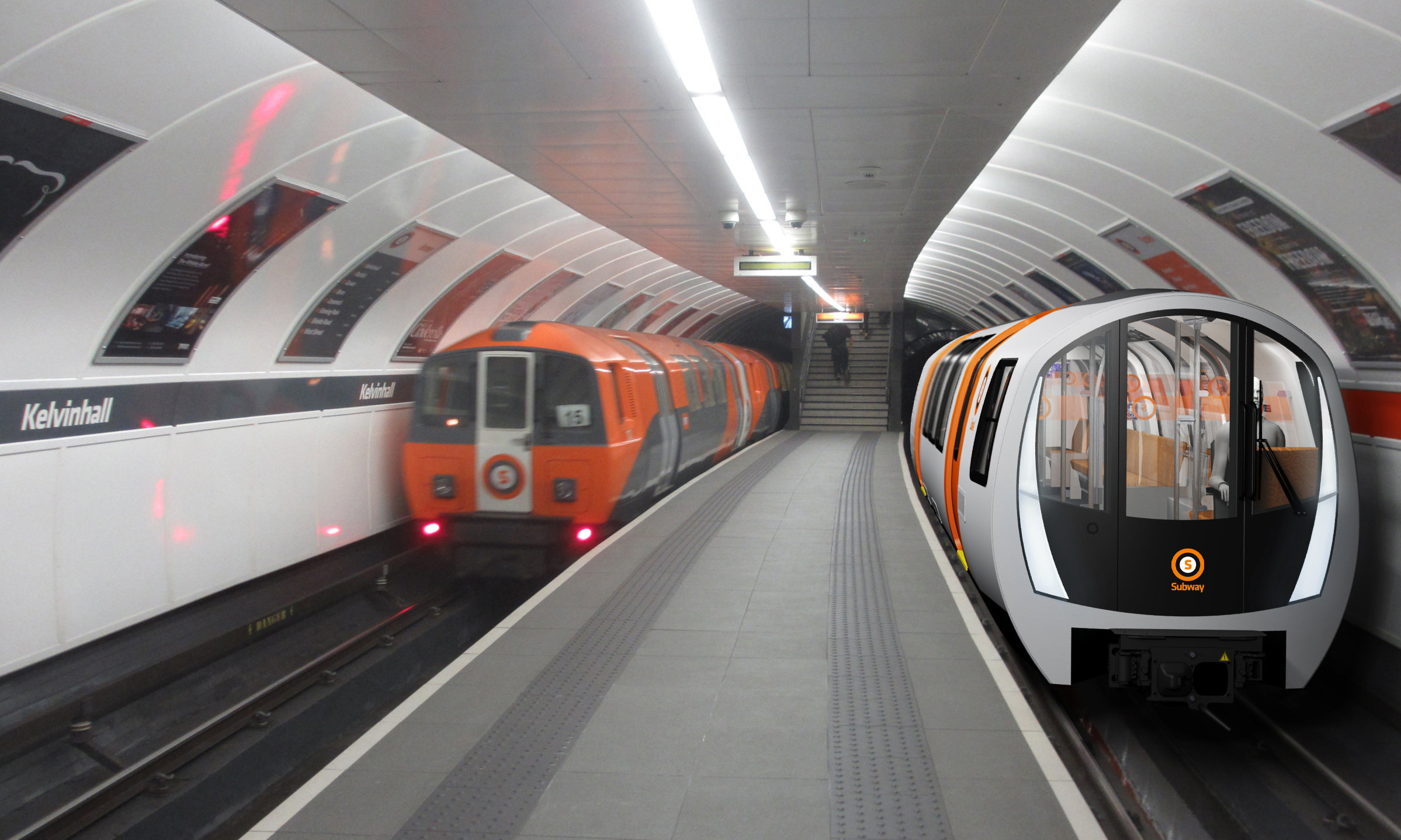 Glasgow Subway, nicknamed The Clockwork Orange