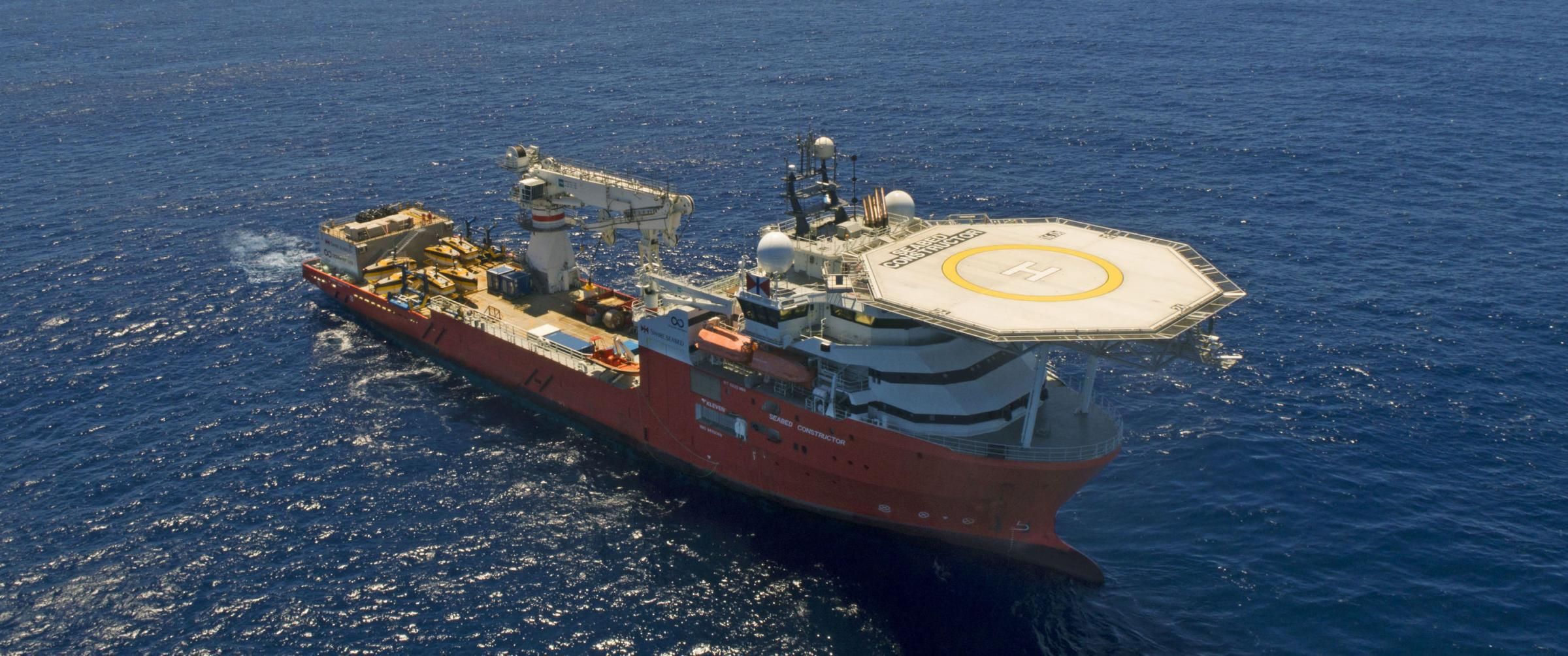 Ocean Infinity vessel 'Seabed Constructor' has been dispatched to the southern Indian Ocean to search for wreckage. Photograph: AP