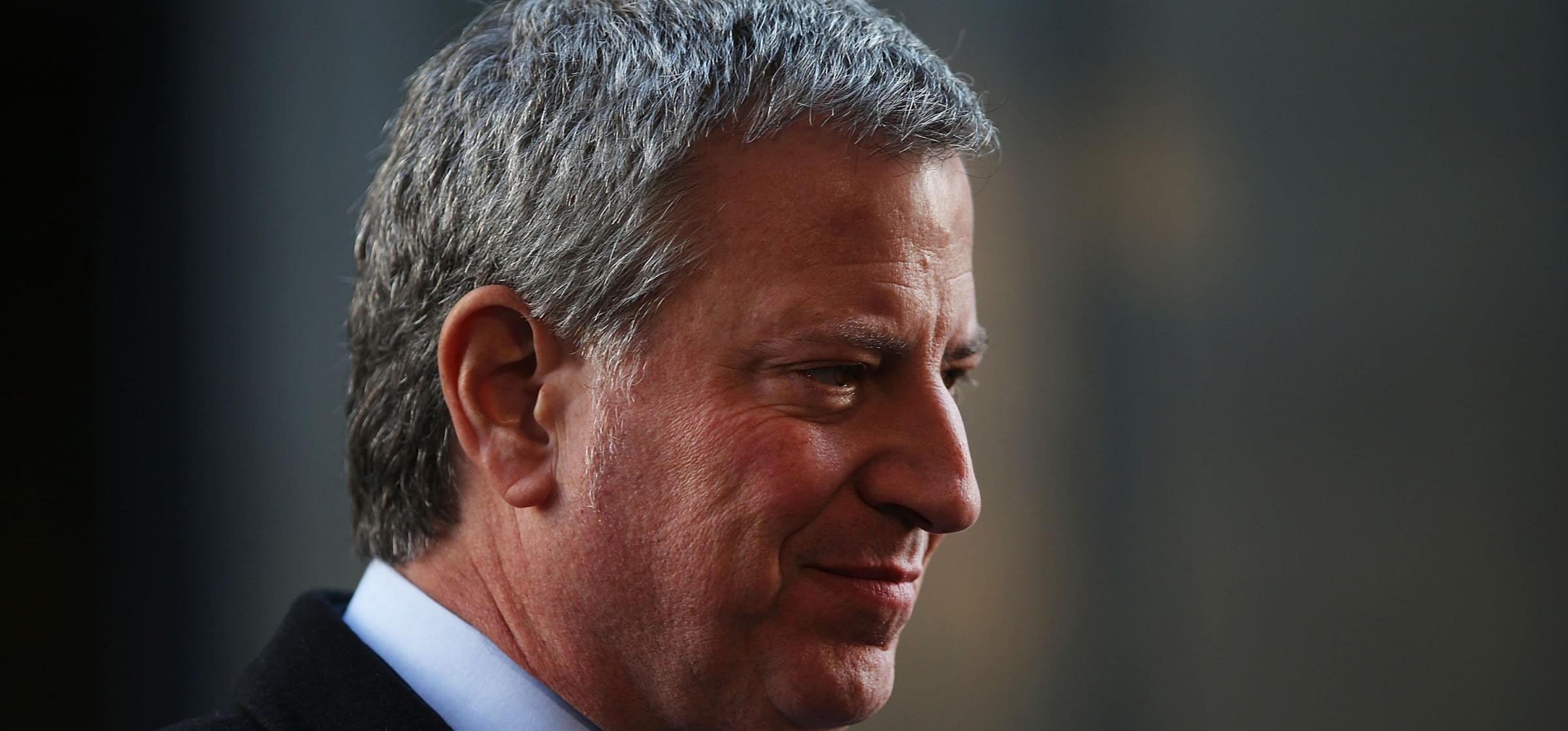 Bill de Blasio is taking the fight to oil companies. Photograph: Getty