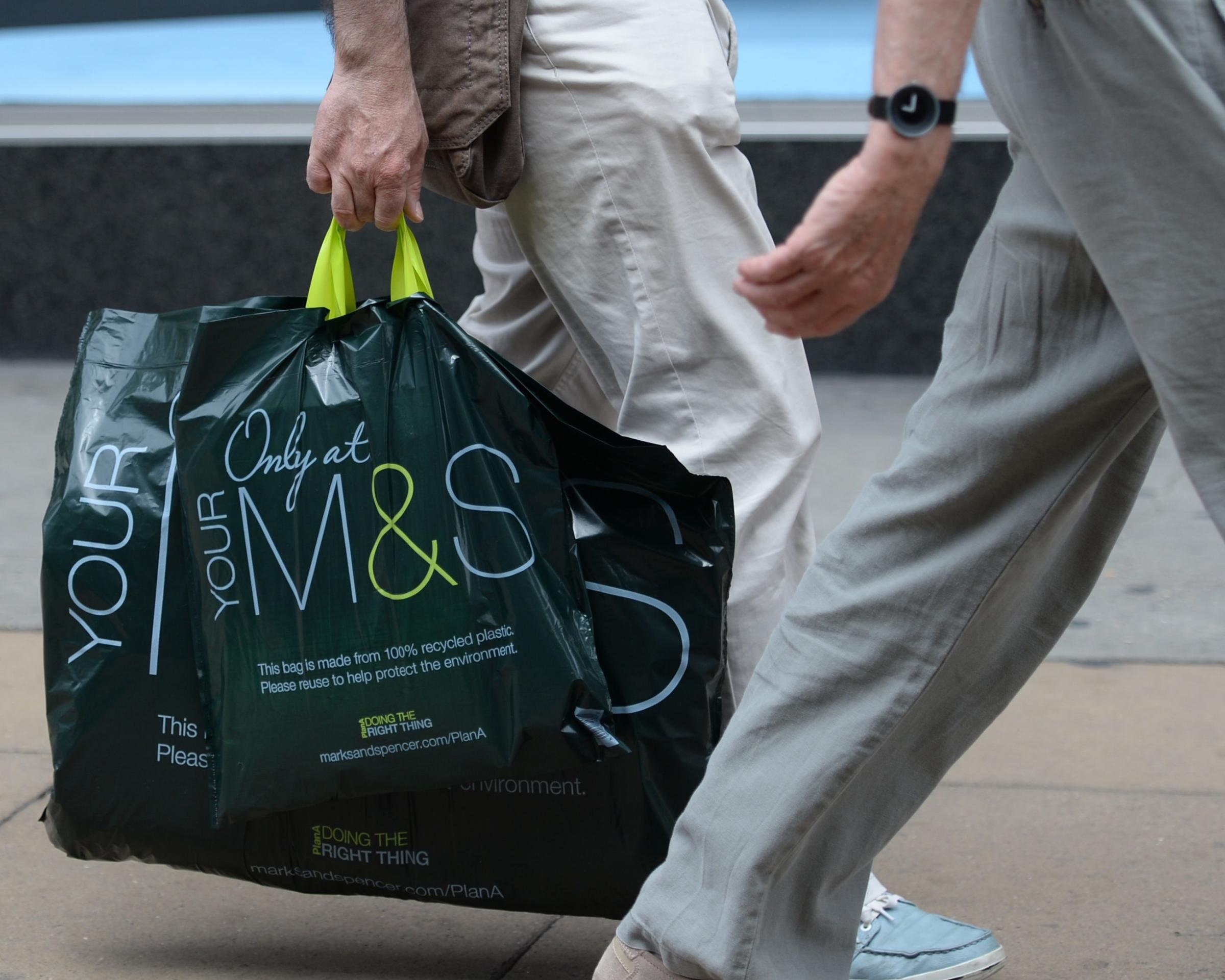 Shares in M&S fell 5.6 per cent in the 13 weeks to Christmas