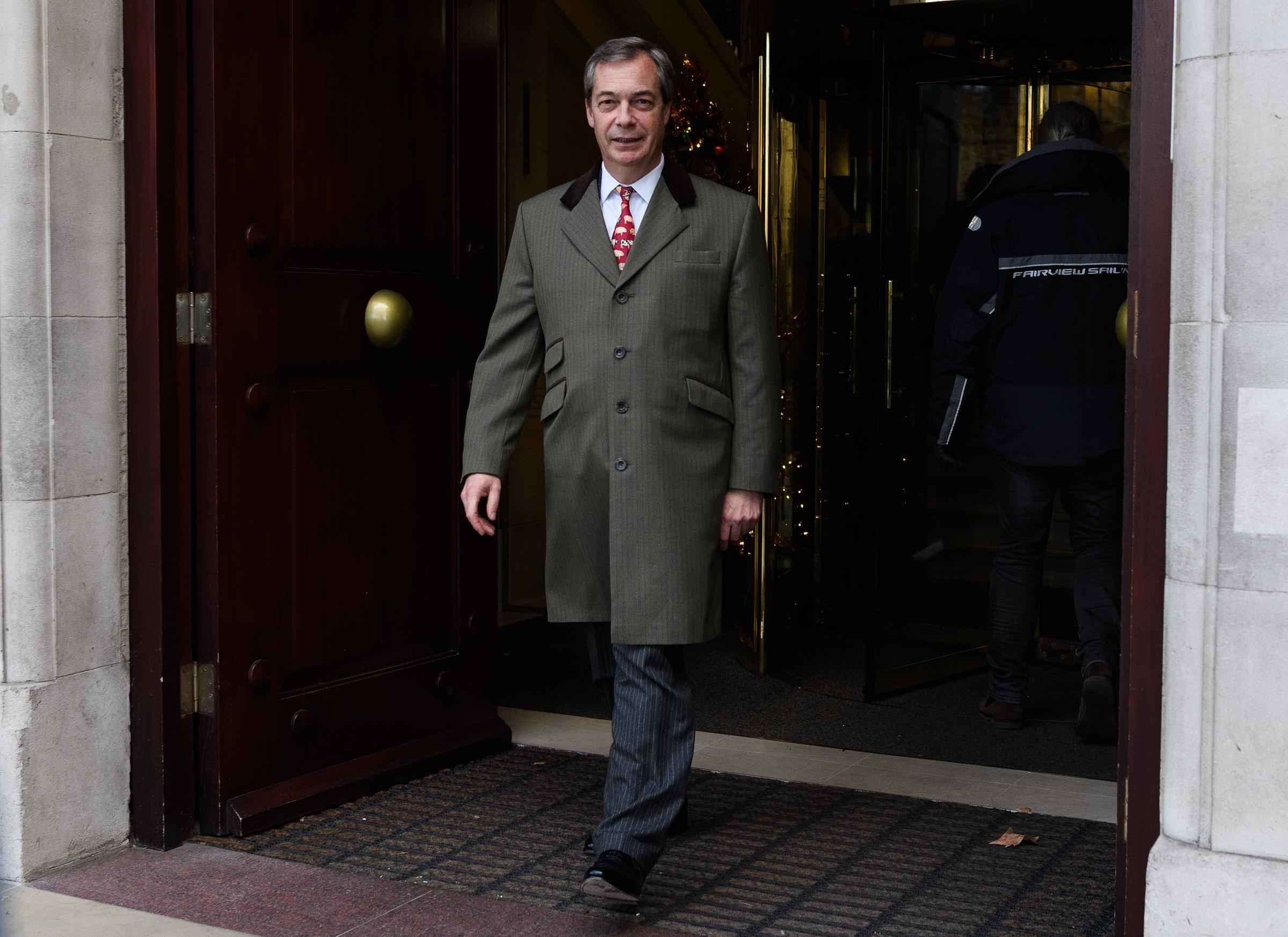 Nigel Farage argued that holding another vote on EU membership would settle the debate