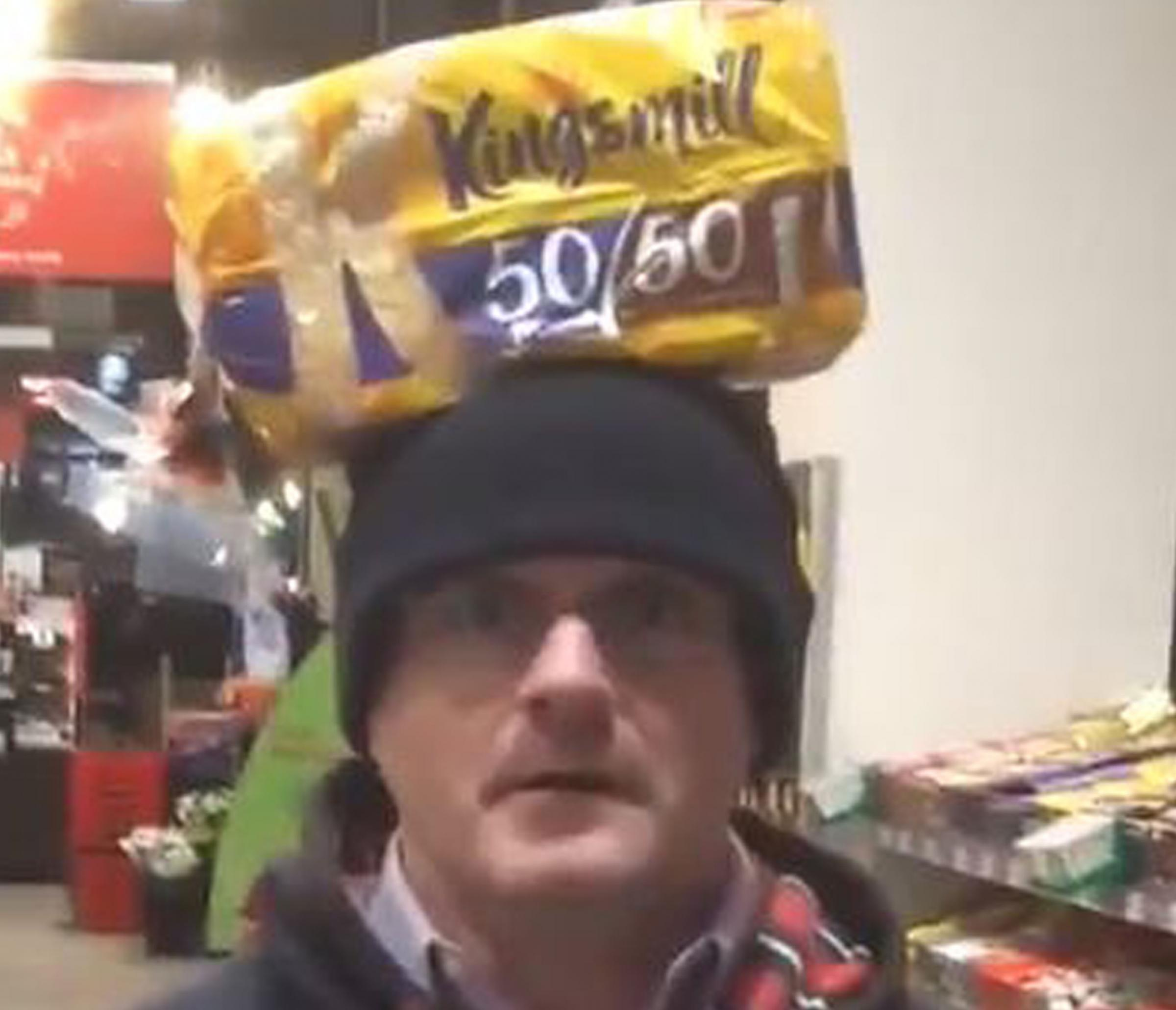 An image taken from the video Barry McElduff posted on his Twitter feed
