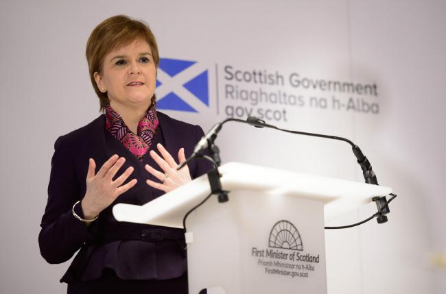 At Monday's press conference, Nicola Sturgeon wanted to talk about the impact of Brexit on the Scottish economy