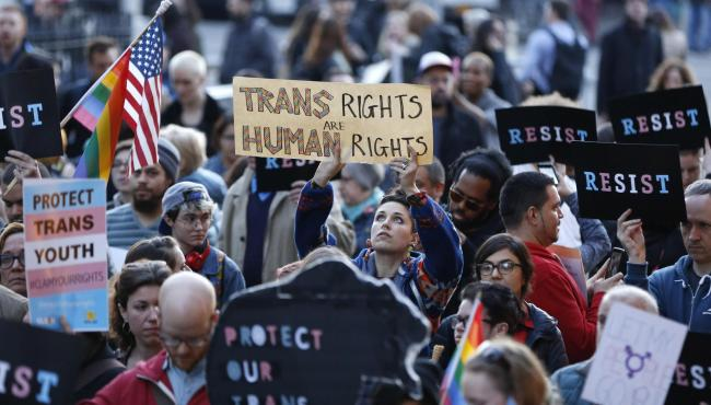 Some believe the T should be dropped from the LGBT acronym. Photograph: AP