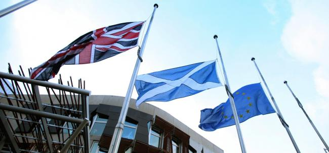 The Union flag is flown in Scotland on Merchant Navy Day and Armed Forces Day