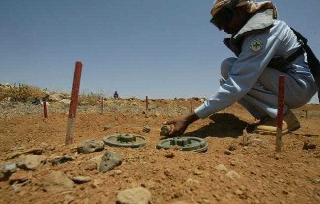 The study found that detonating the mines could be a better way. Photograph: Getty