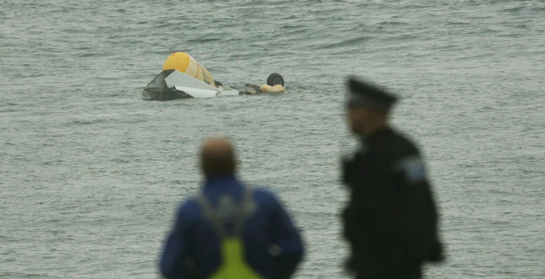 The wreckage of the Super Puma L2 helicopter which went down in the North Sea with the loss of four lives. Photograph: PA