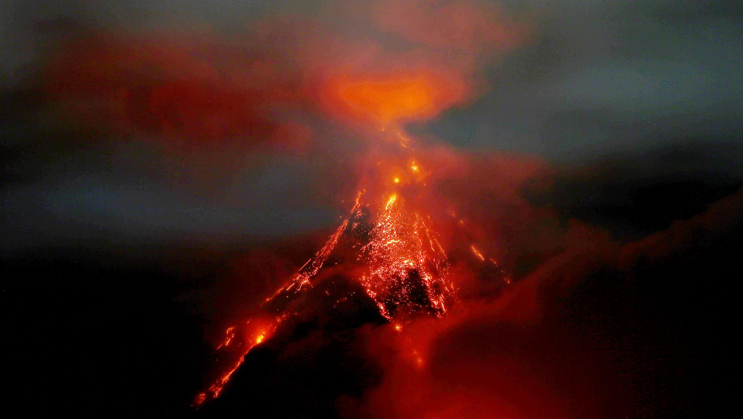Mayon has erupted 50 times in the last 500 years. Photograph: AP