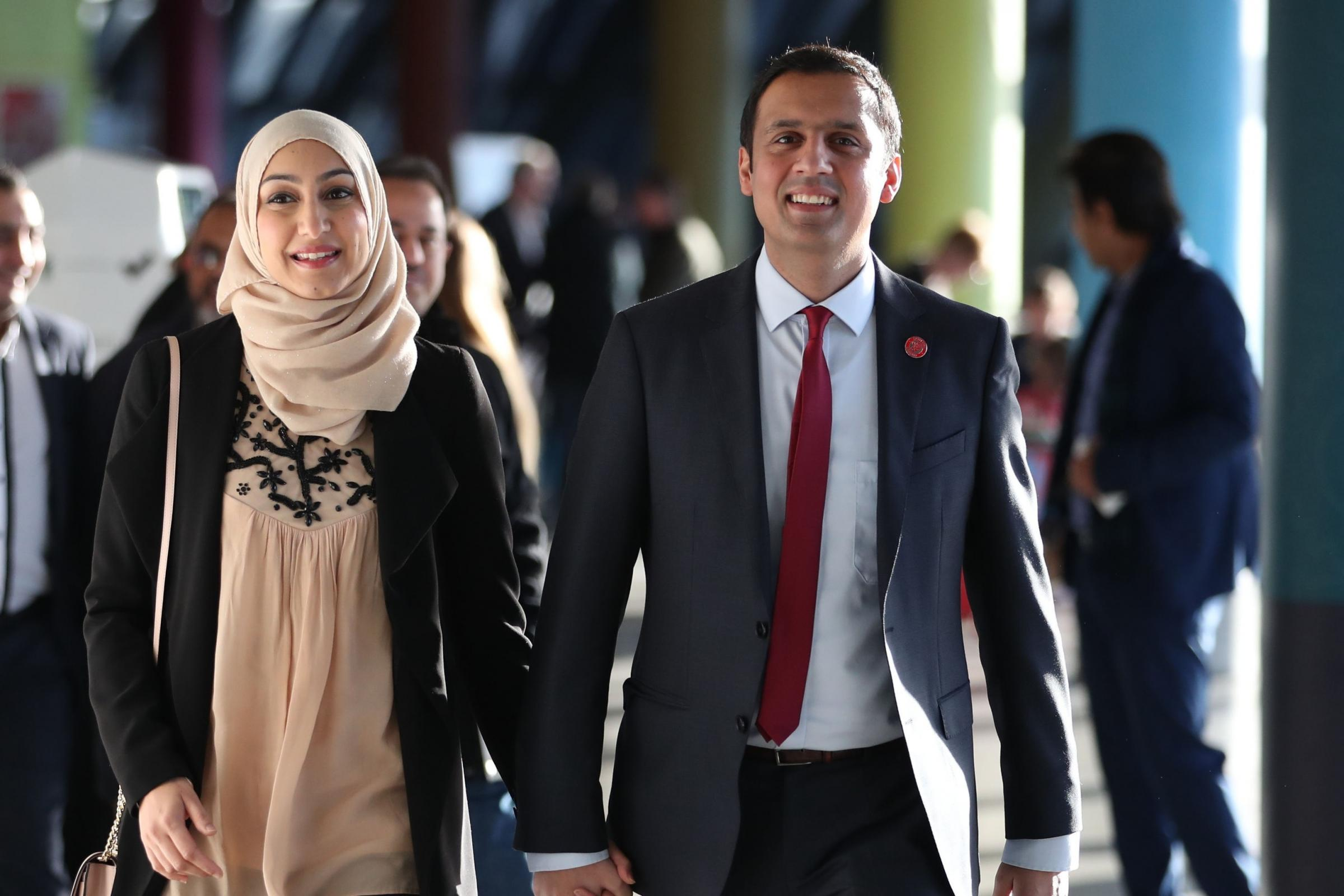 Labour MSP Anas Sarwar and his wife Furheen