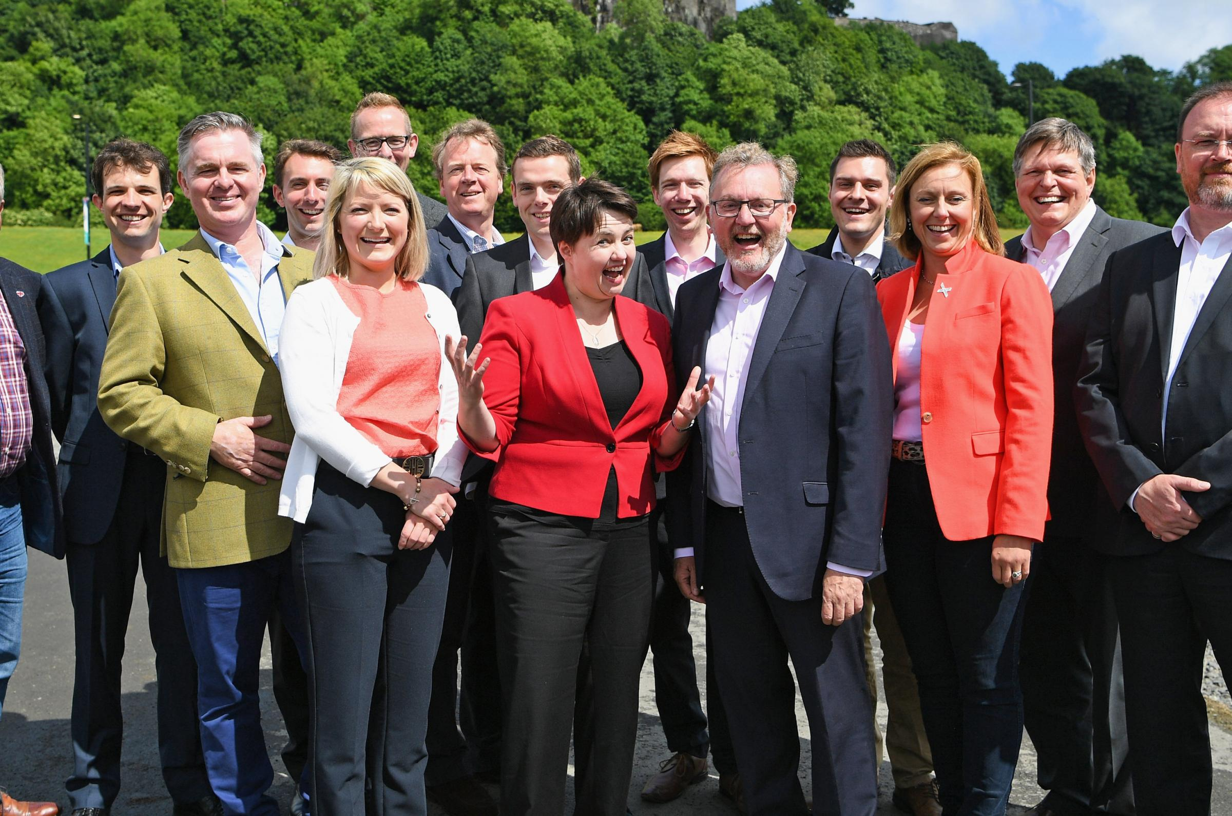 Ruth Davidson with the Scottish Conservative MPs