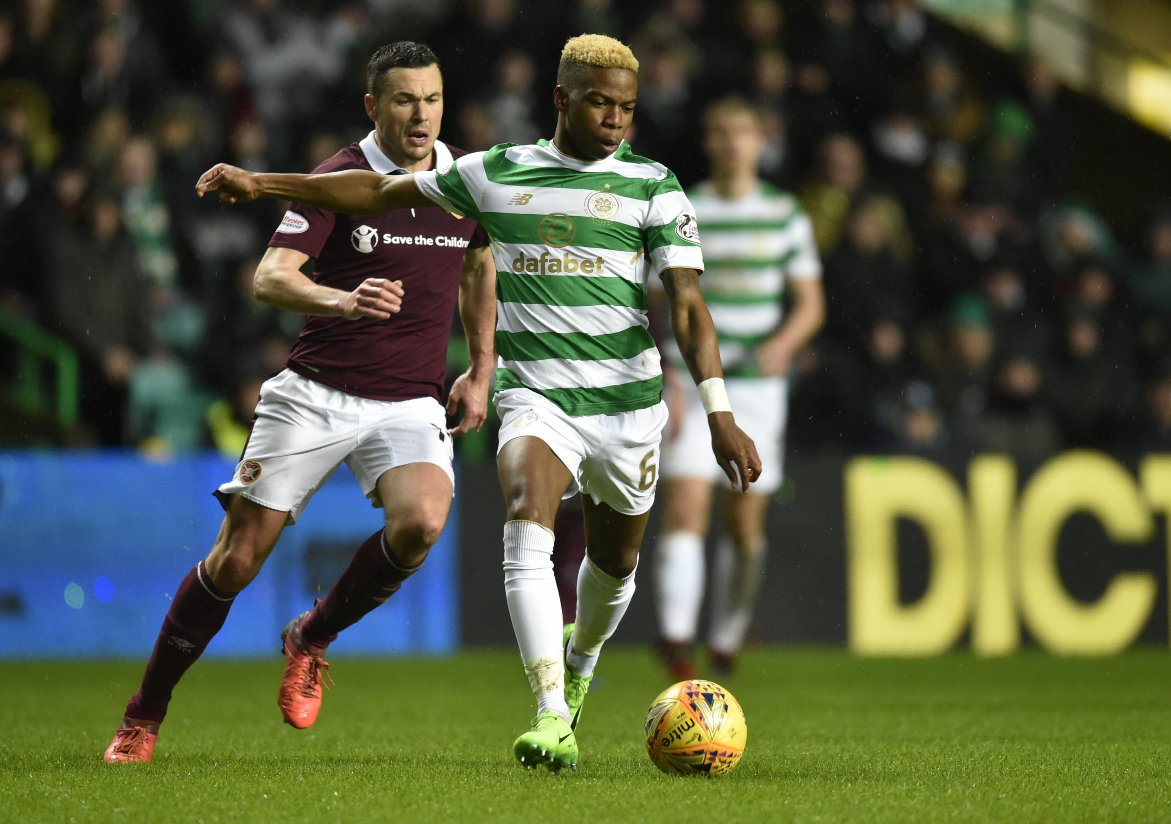 Charly Musonda came on in the second half for Celtic against Hearts. Photograph: SNS