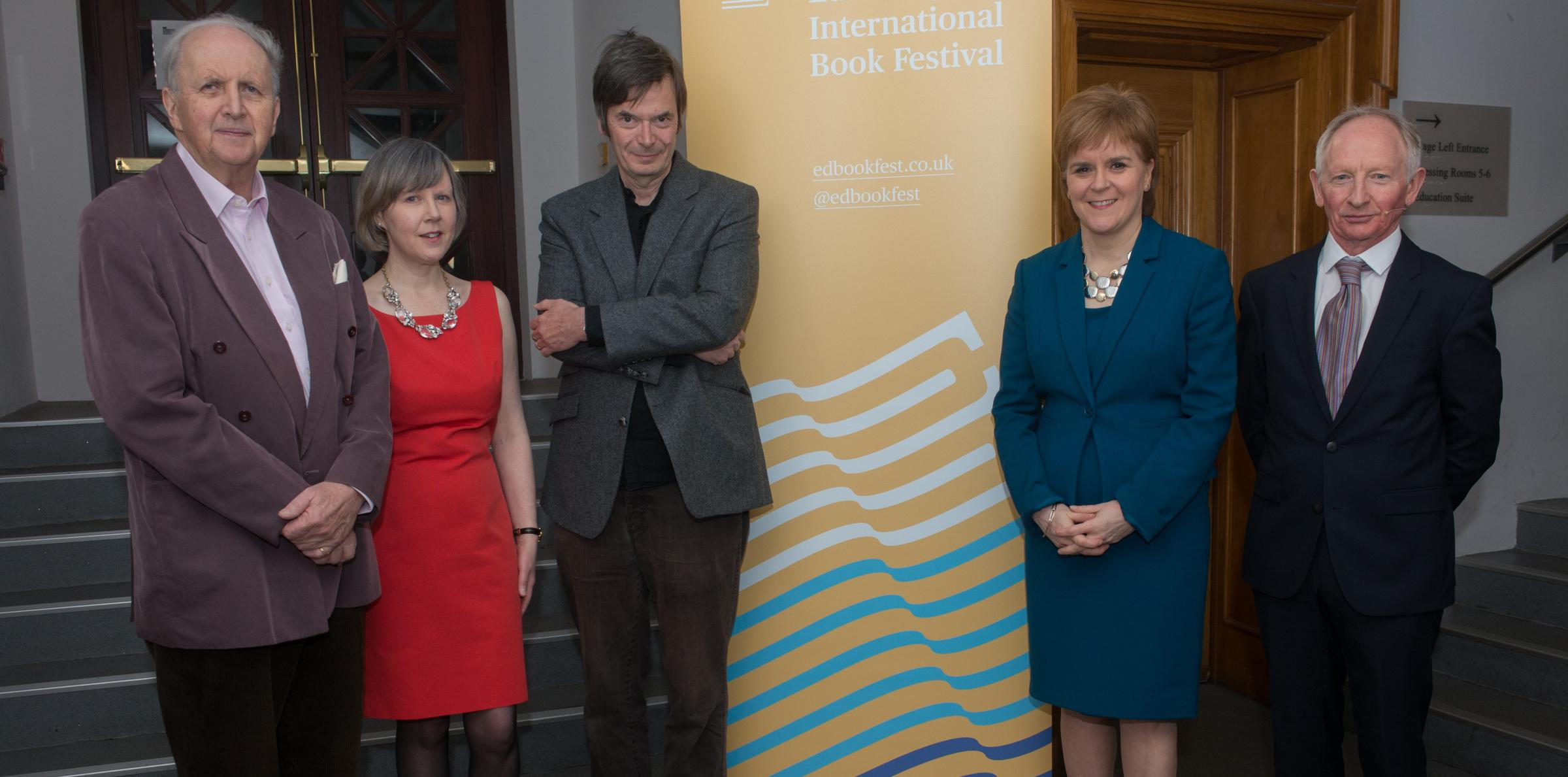 From left: Alexander McCall Smith, Rosemary Goring, Ian Rankin, Nicola Sturgeon and Alan Taylor remembered the Scottish author