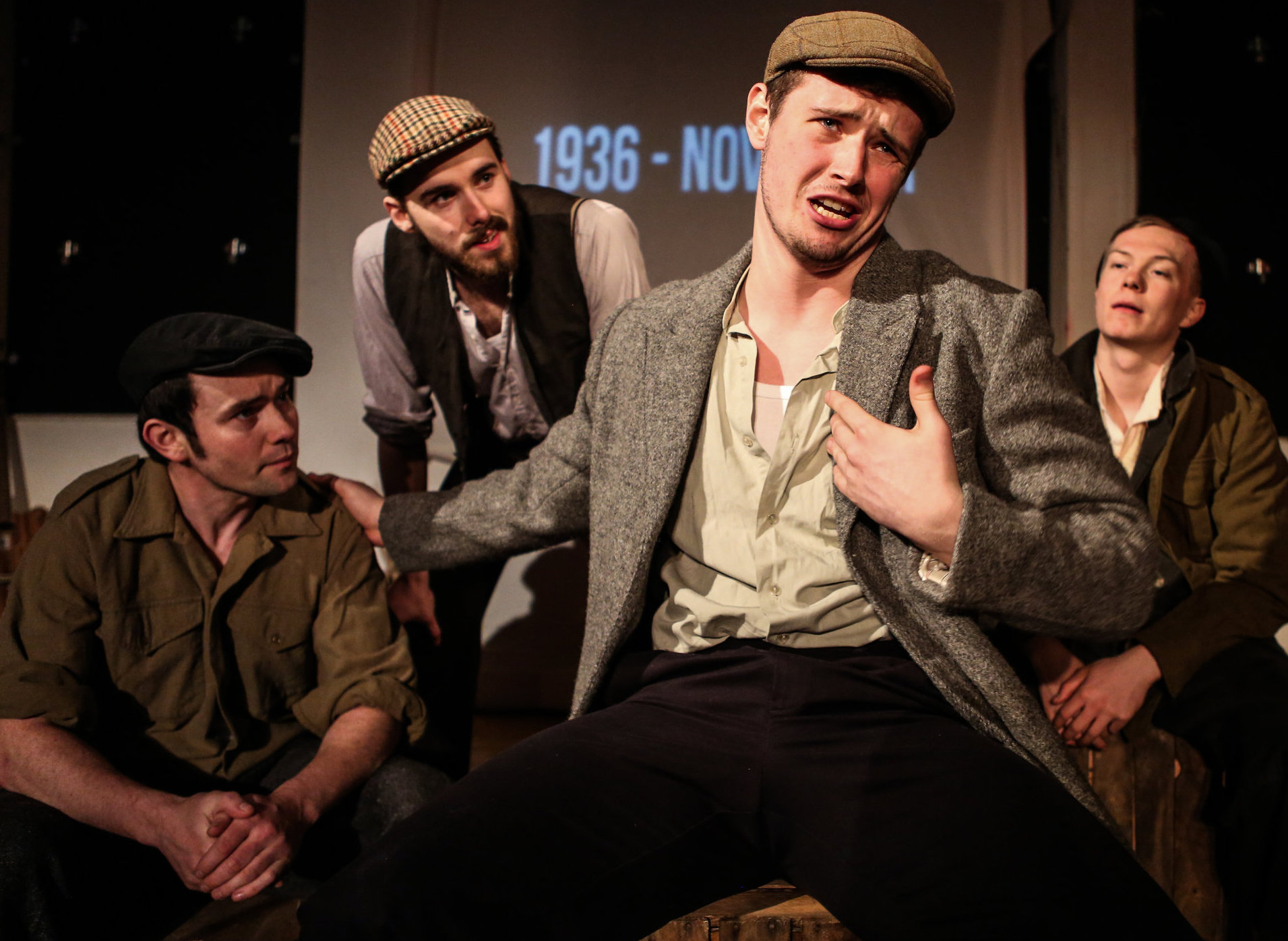 The play tells the story of four miners who left fishing town Prestonpans to join 545 other Scots
