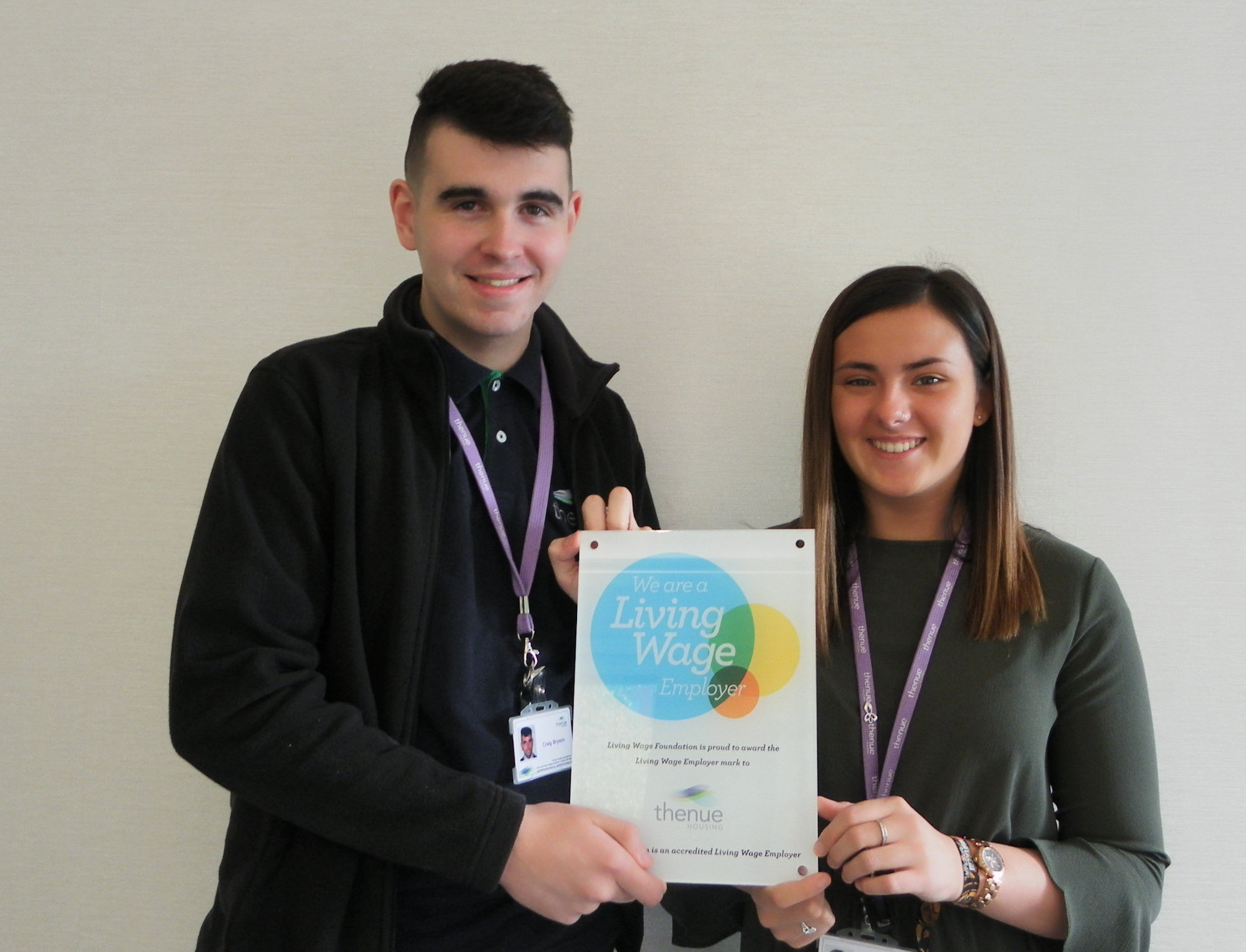 Theneu apprentices Shannon Meechan and Craig Bryson