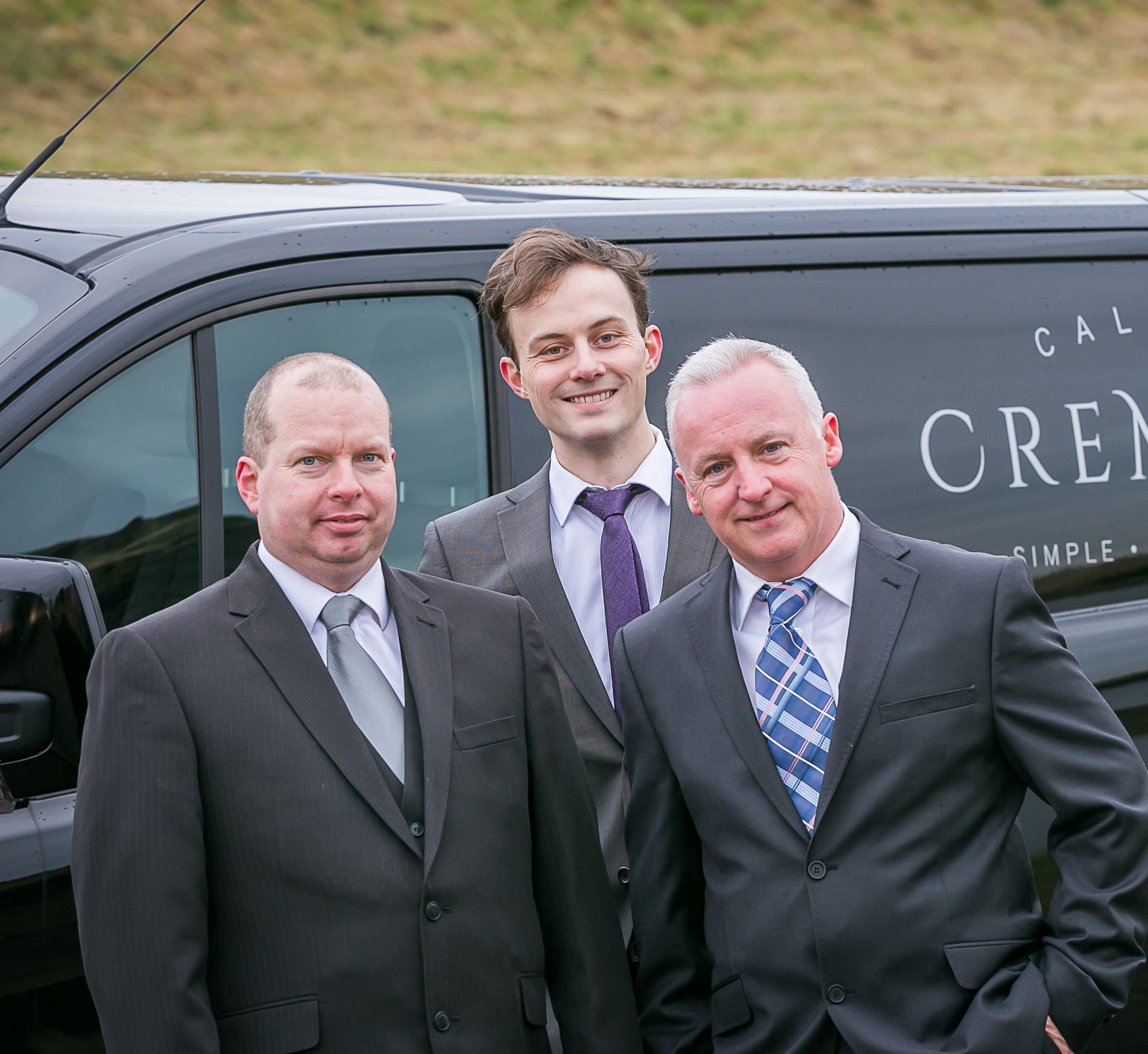 From left: Ian Kirk, John Halliday and Paul McColgan hope Caledonia Cremation can reduce 'funeral poverty' in Scotland