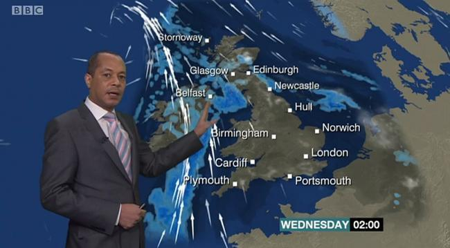 Scotland Weather Map.Scotland Is Now Finally The Right Size On Bbc S New Weather Map