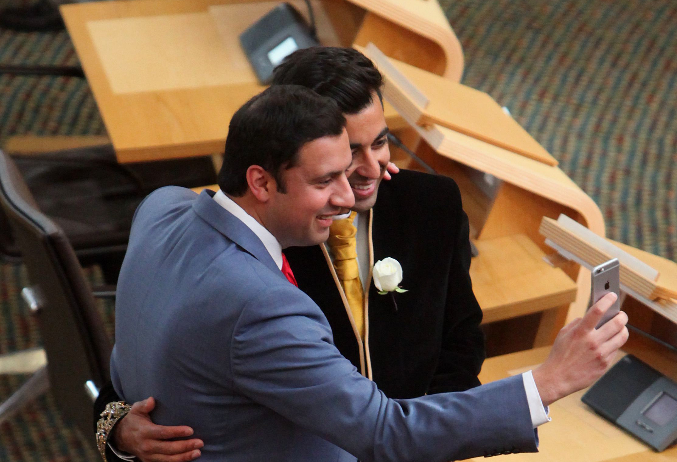 Anas Sarwar (left) and Humza Yousaf have come forward about the everyday racism they suffer in their working and private lives. Photograph: Gordon Terris
