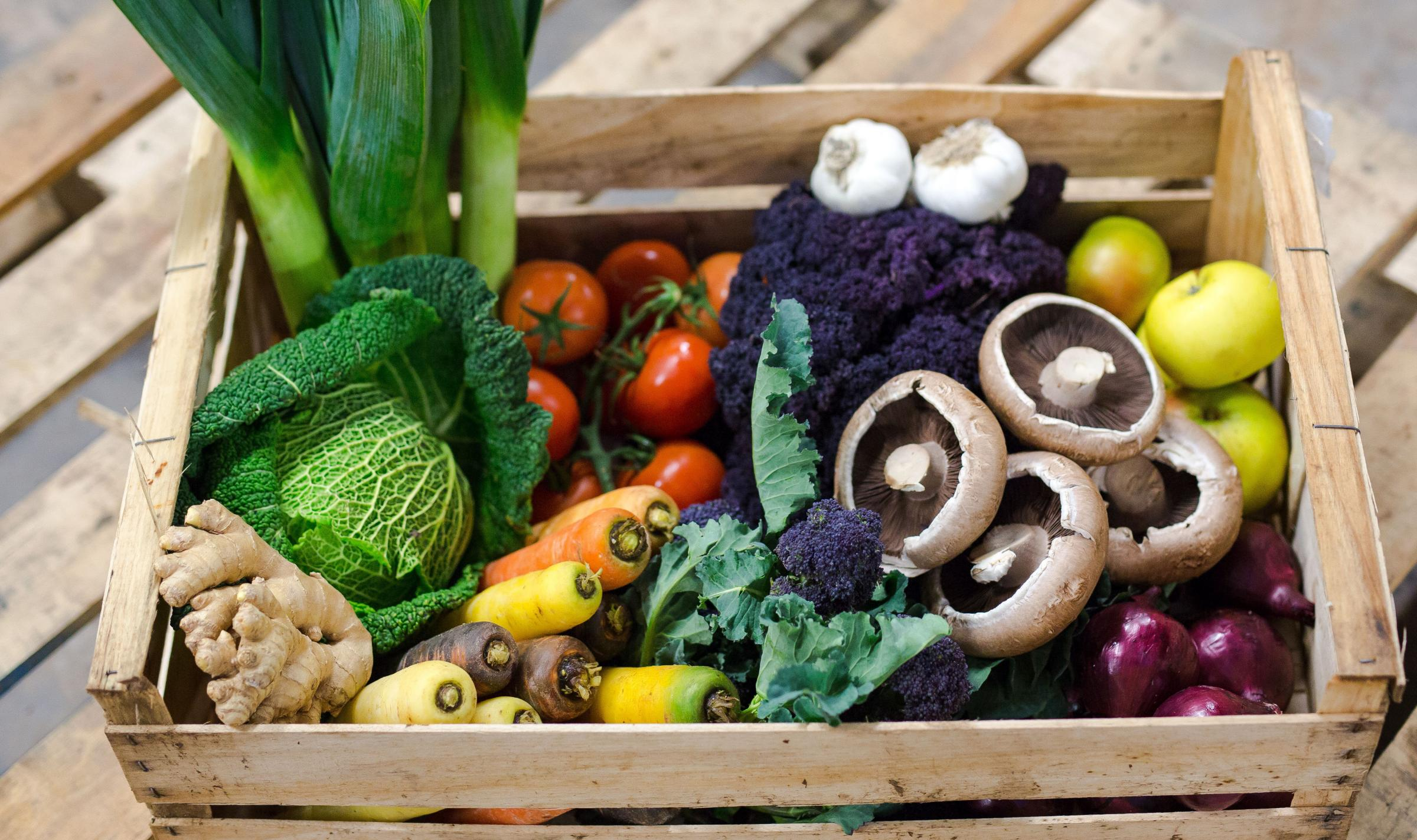There is growing interest in vegetable box schemes