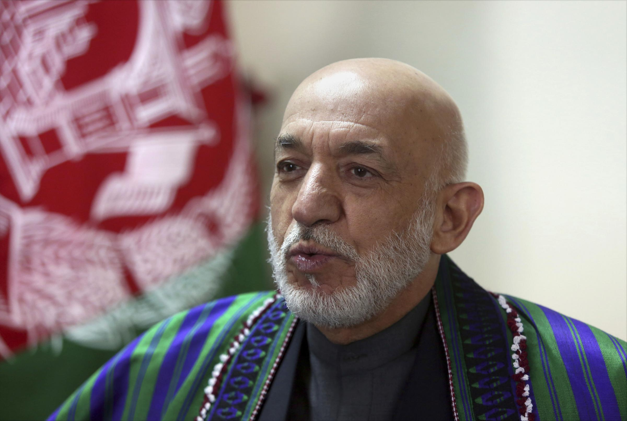 Hamid Karzai called on the US to sanction the Pakistan military and intelligence officials. Photograph: AP