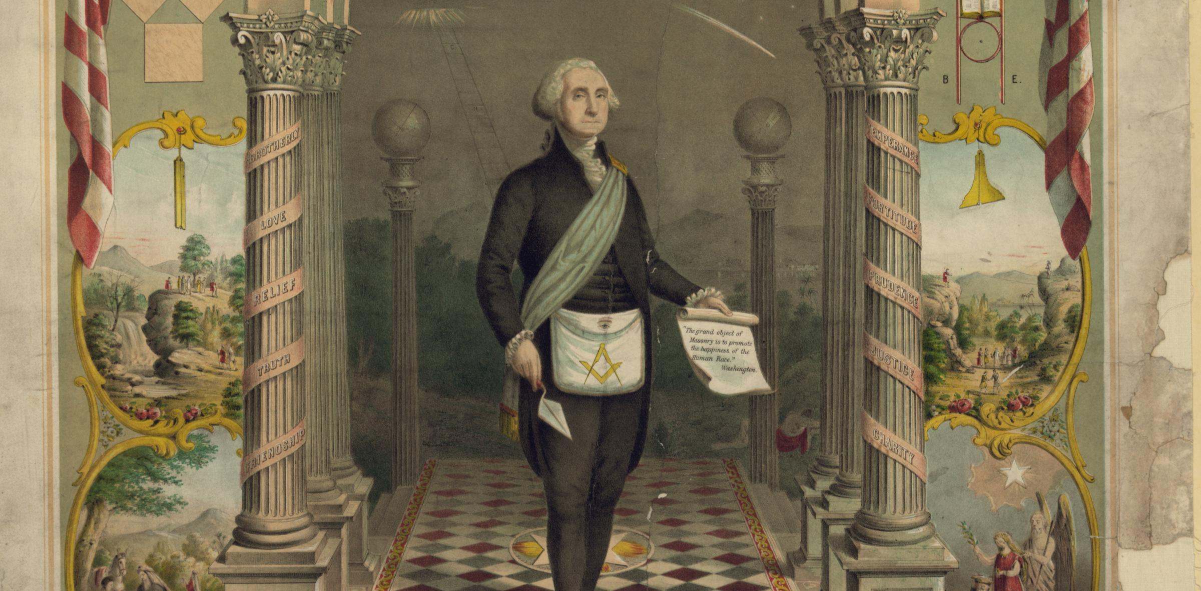 George Washington is just one name on a long list of famous freemasons