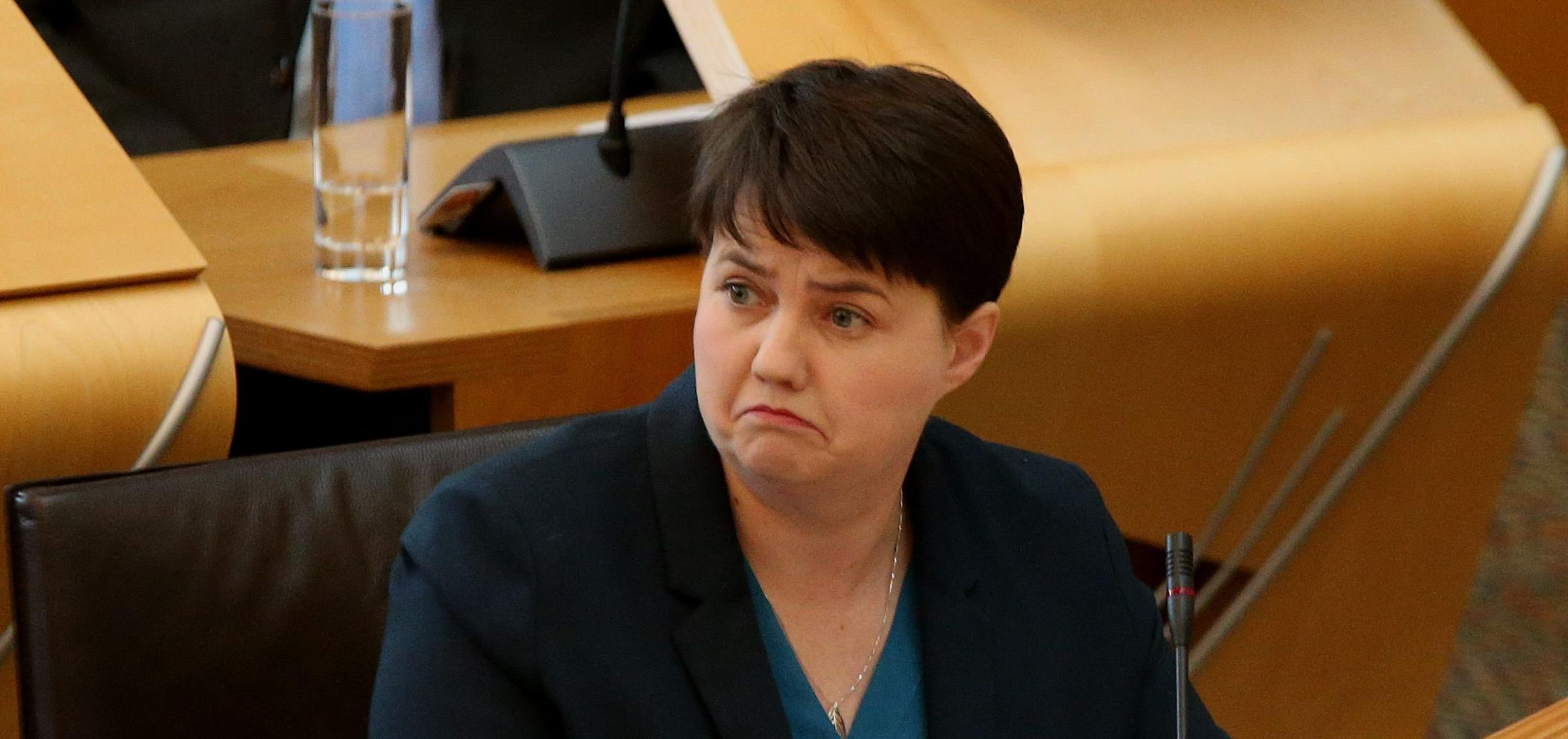 Ruth Davidson was the subject of a bidding war at the Tory fundraiser. Photograph: Gordon Terris
