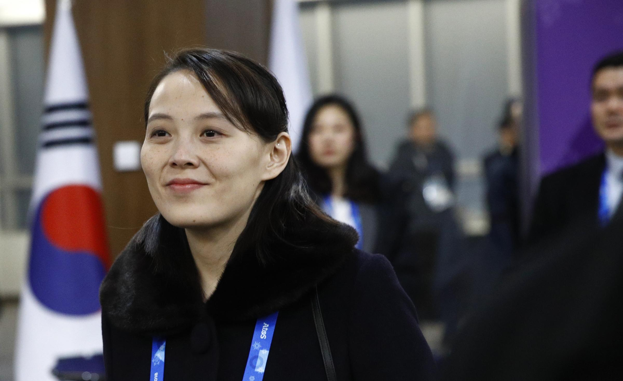 Kim Yo Jong, sister of North Korean leader Kim Jong Un, arrives at the opening ceremony of the Pyeongchang. Photograph: Getty