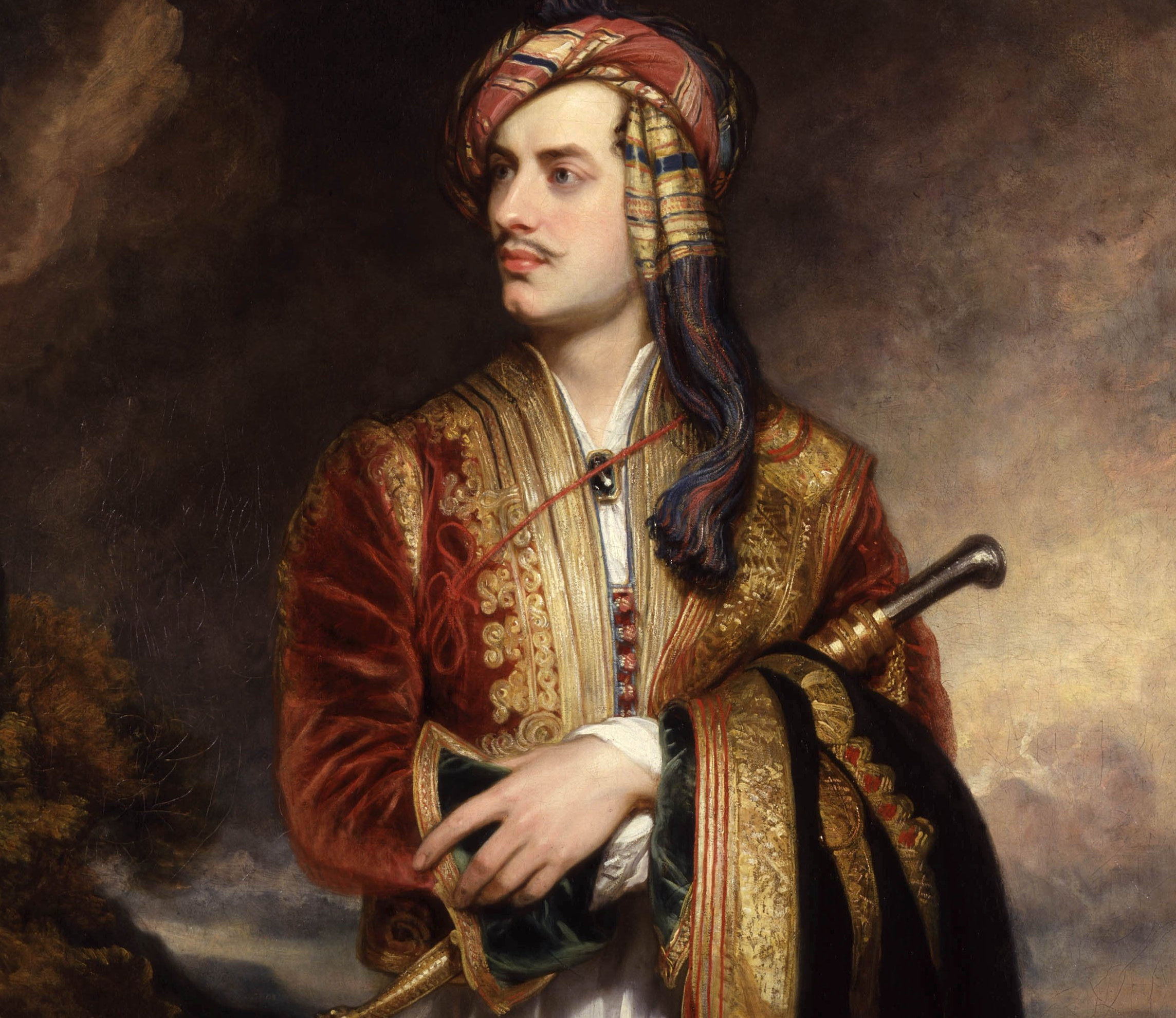 What aristocratic Lord Byron shares with ploughman Burns
