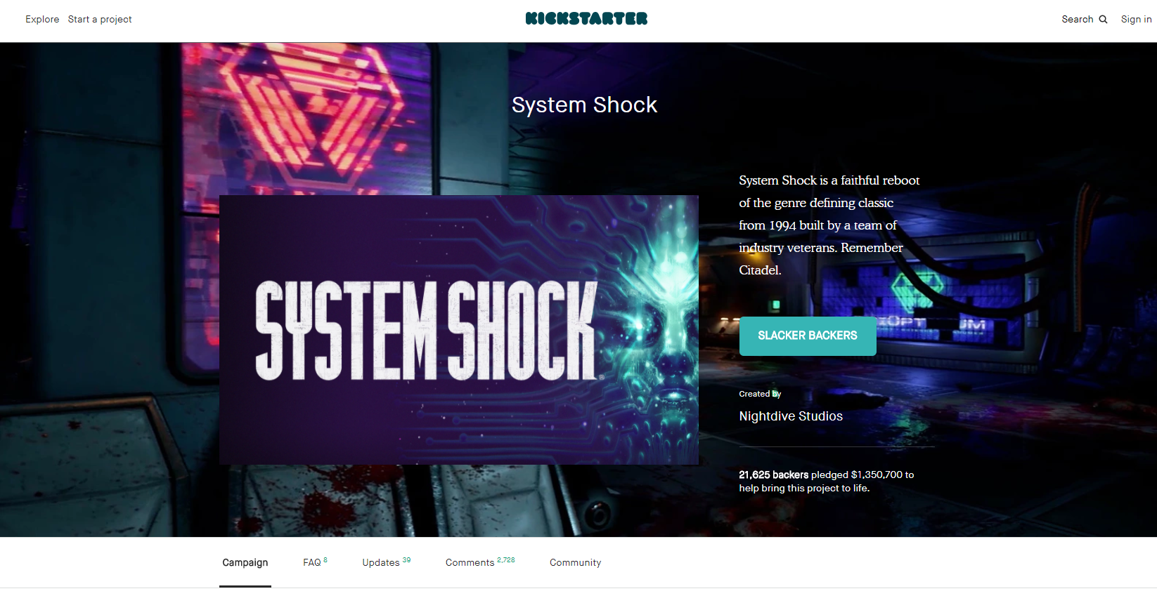 What happened to the crowdfunded reboot of System Shock?