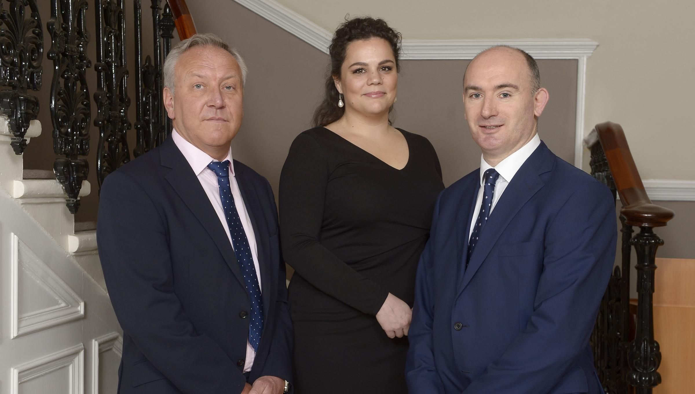 From left: Craig Jamieson, regional director at Barclays wealth management, Alexandra Mancini and John Godfrey