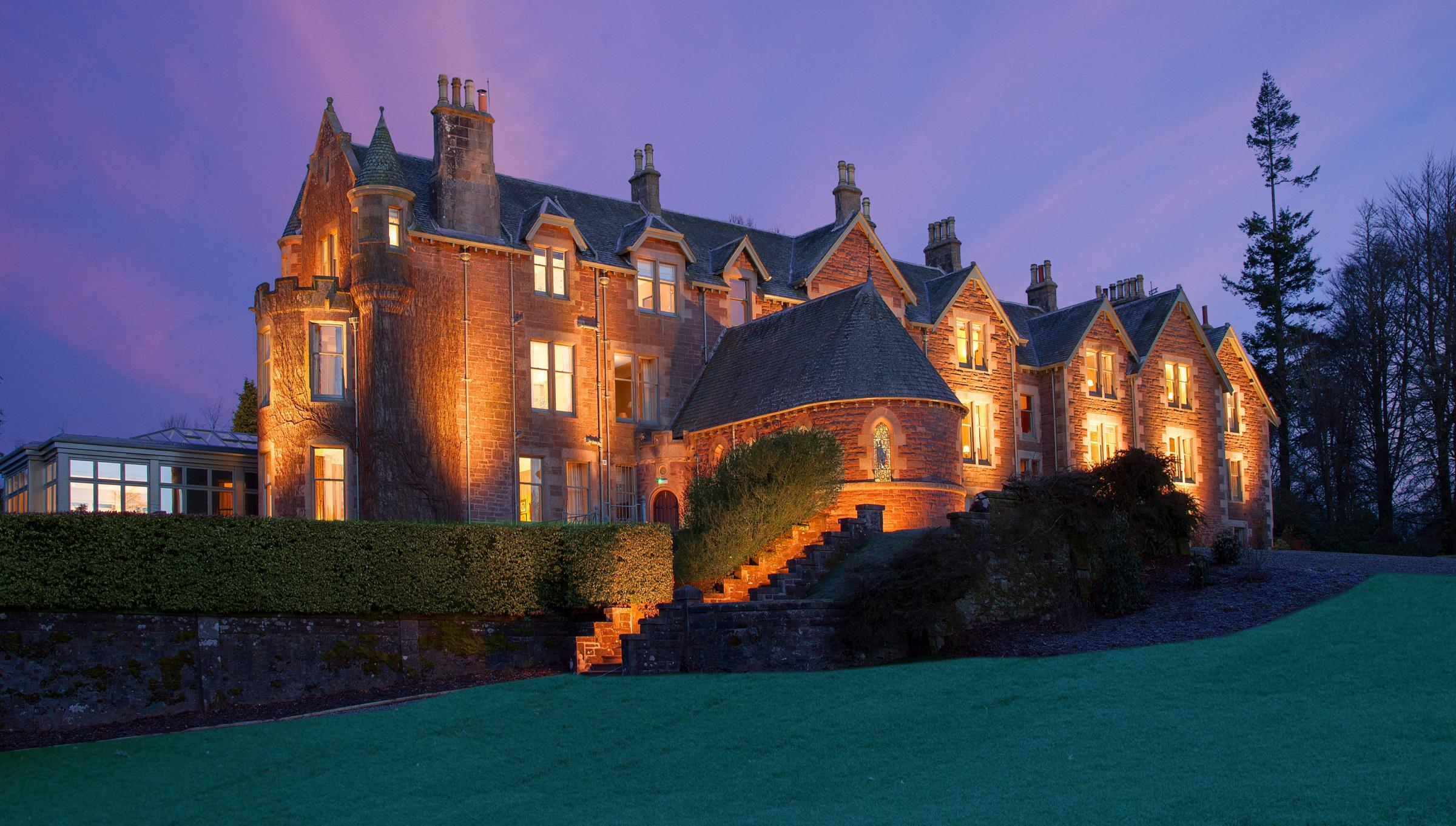 Cromlix Hotel was built on the land once owned by James Chisholm, the Bishop of Dunblane, and became a hotel in 1981