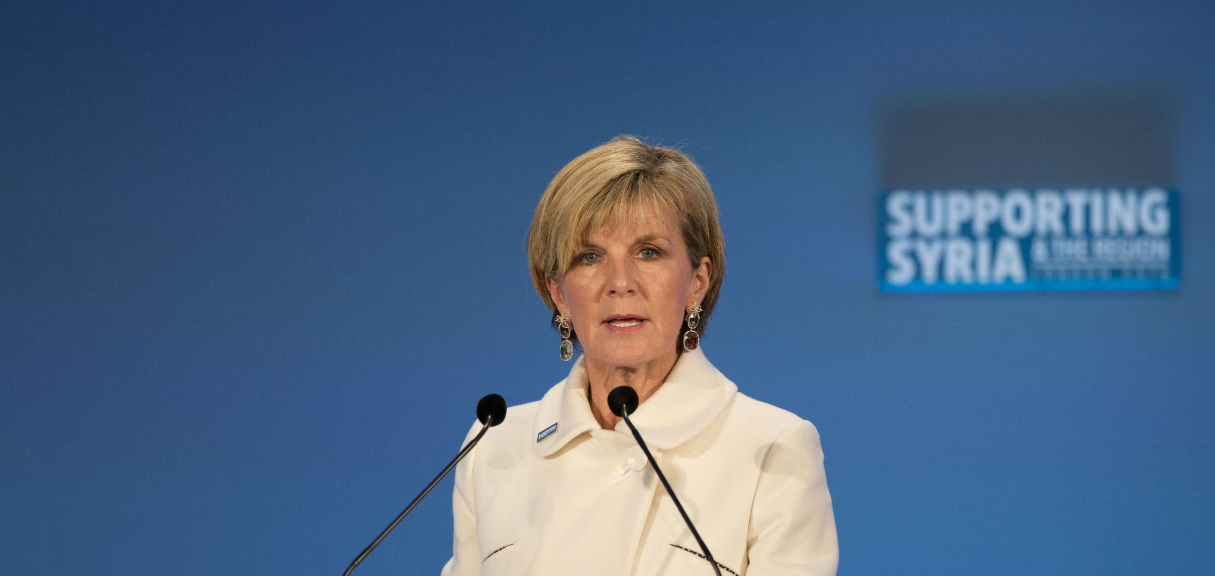 Australian Foreign Minister Julie Bishop signed the landmark treaty