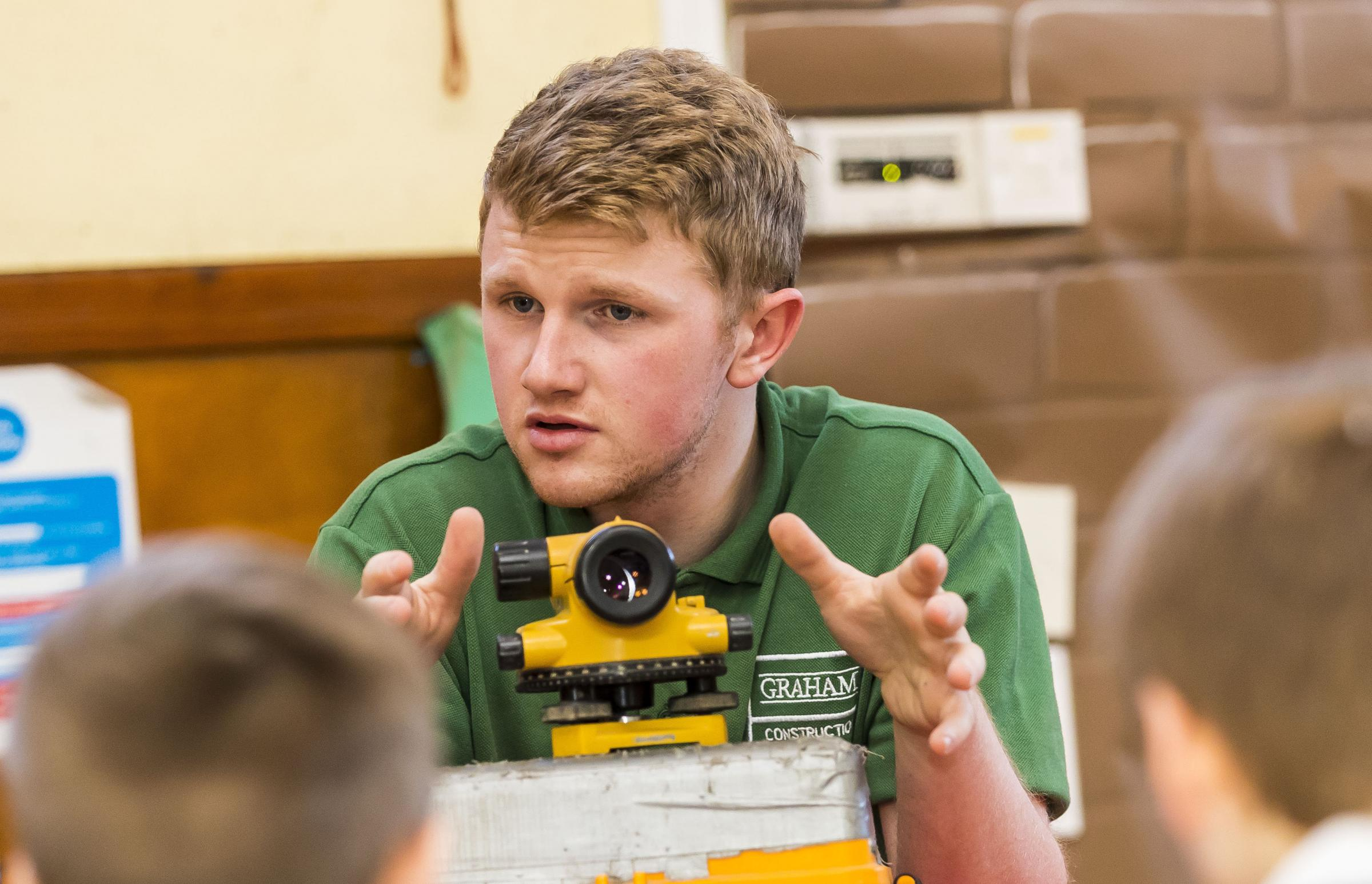 Apprentice site engineer Greg Wilkinson spoke at the event