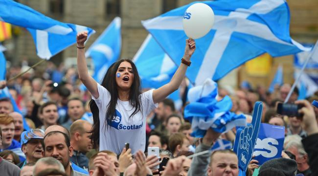 Many Scots profess not to be interested in politics at all. Photograph: Getty