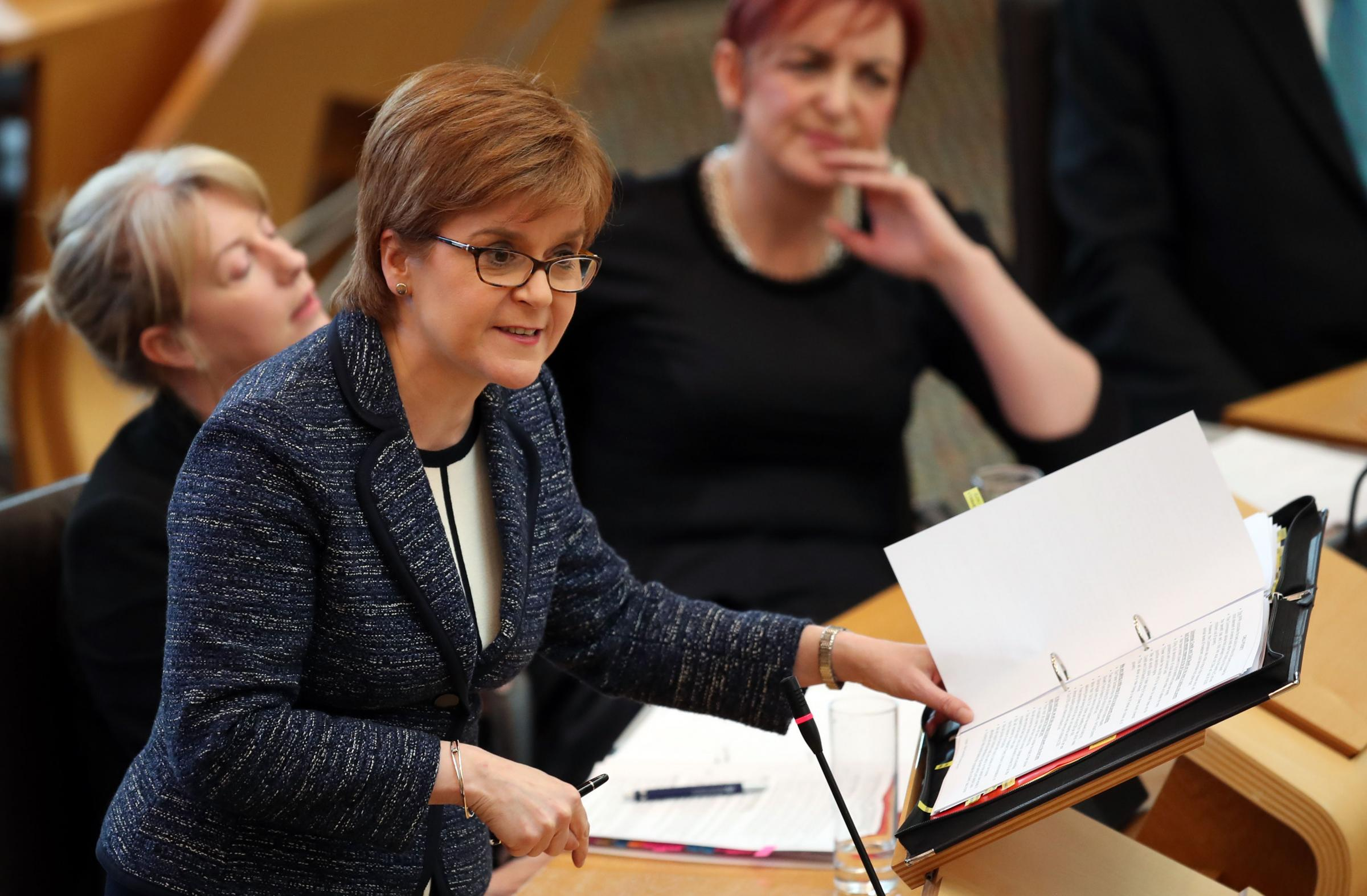 Nicola Sturgeon said there was nothing legally that the Scottish Government could do. Photograph: PA