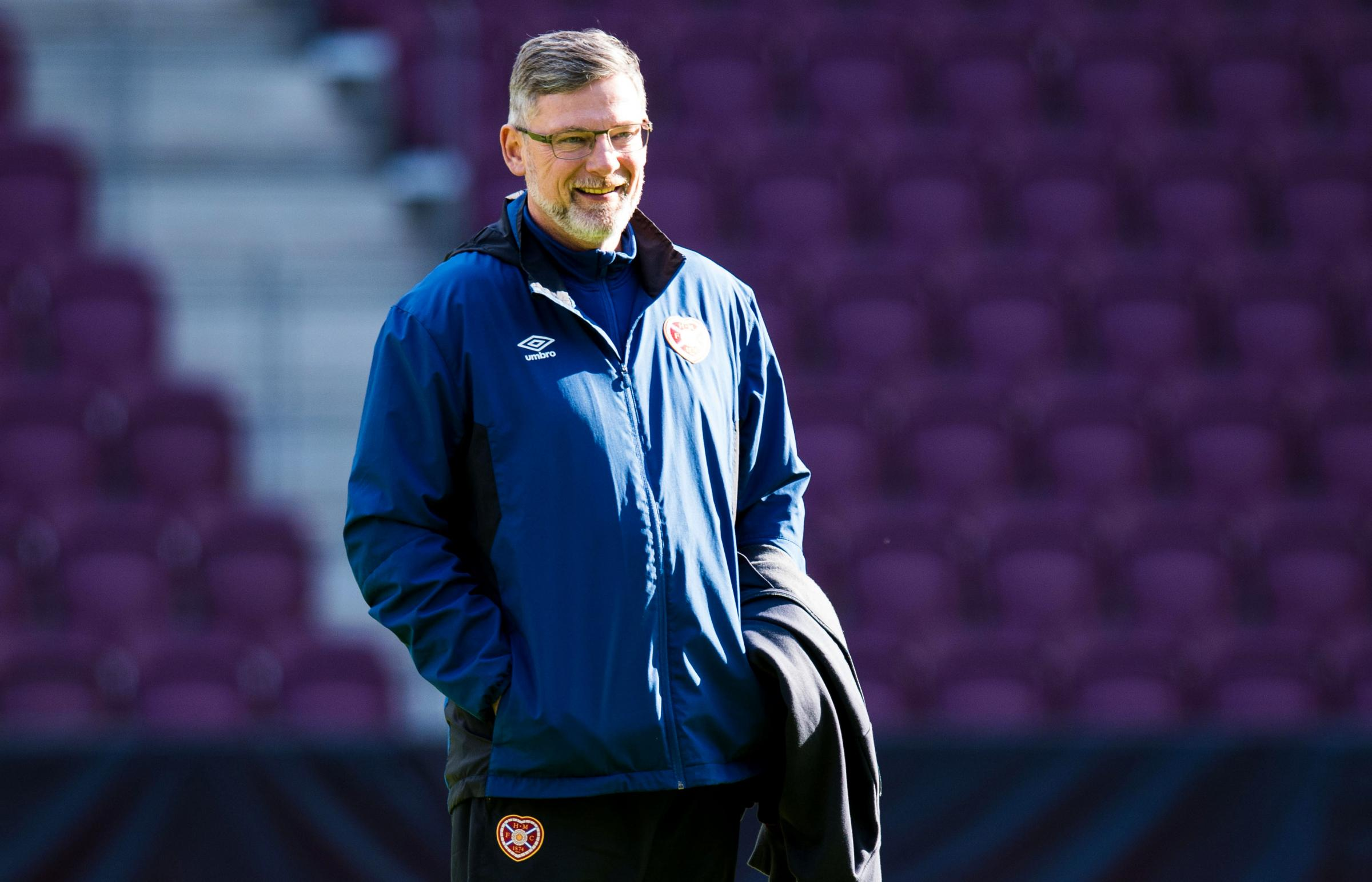 08/03/18 . HEARTS TRAINING. TYNECASTLE PARK - EDINBURGH. Hearts Manager Craig Levein..