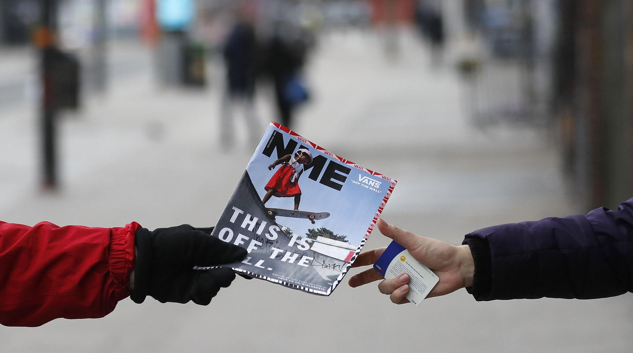 NME is moving to a digital-only format. Photograph: AP
