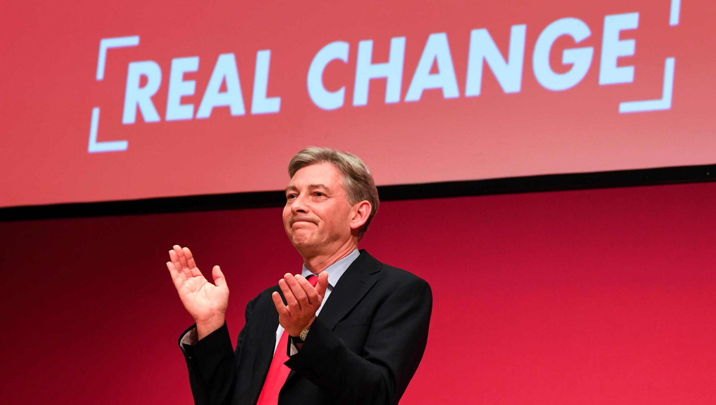 Richard Leonard repeatedly attacked the SNP during his speech. Photograph: Getty