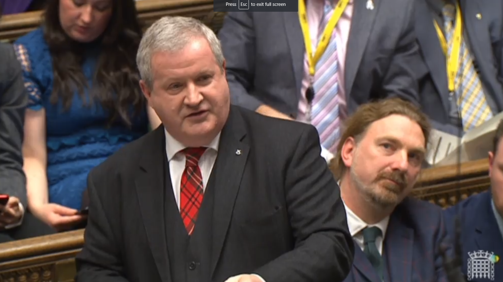 Blackford says 'Scotland is shackled to a sinking ship' as Tory MPs heckle