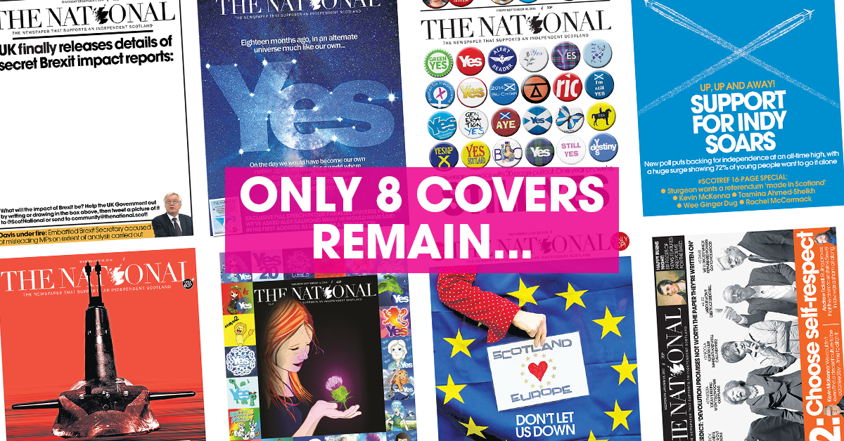 Only eight front covers remain...