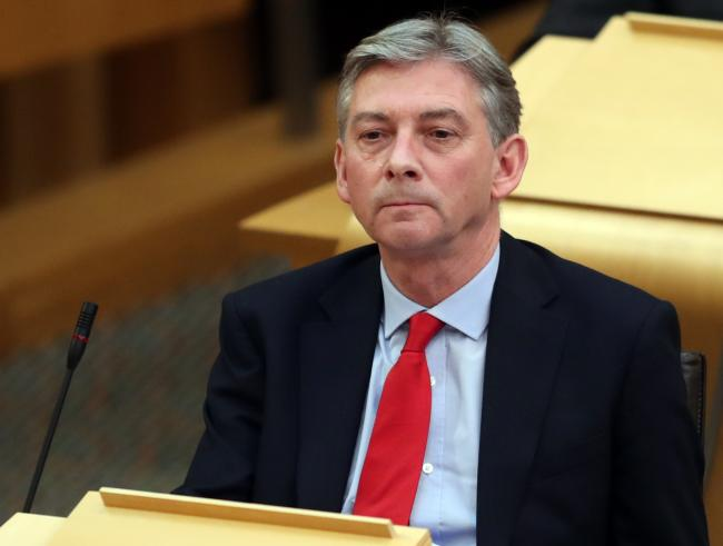 Richard Leonard being told the issue he raised was a Westminster matter