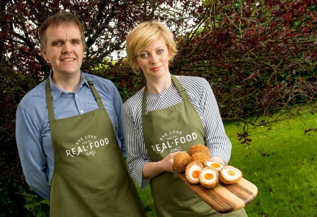Husband and wife team Mark and Jacqueline Davidson run Aye Love Real Food, an acclaimed, versatile producer of of artisan producers of Scotch eggs, sausage rolls and other savoury treats