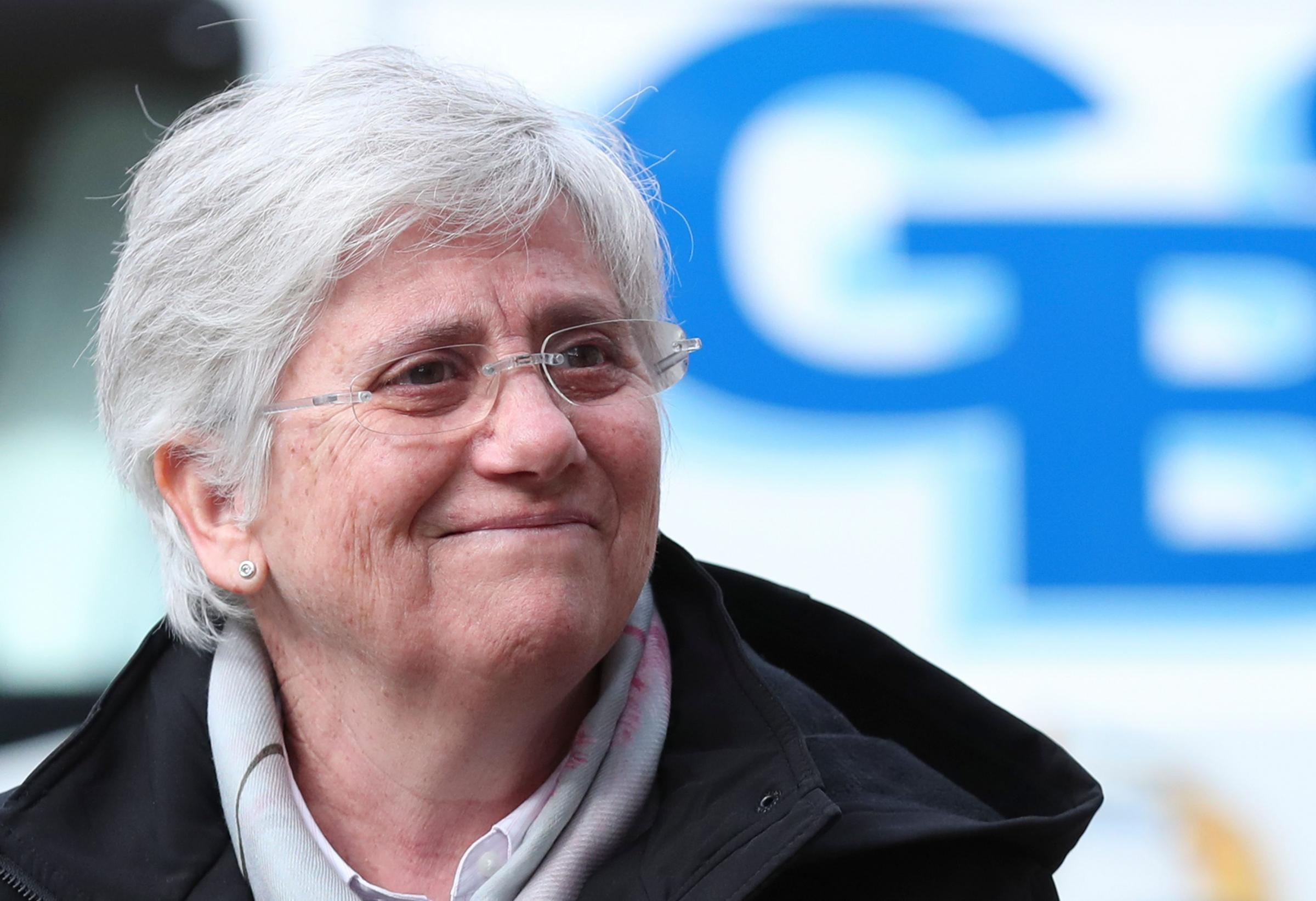 Former Catalan minister Clara Ponsati surrendered herself to the authorities in Scotland. Photograph: Getty